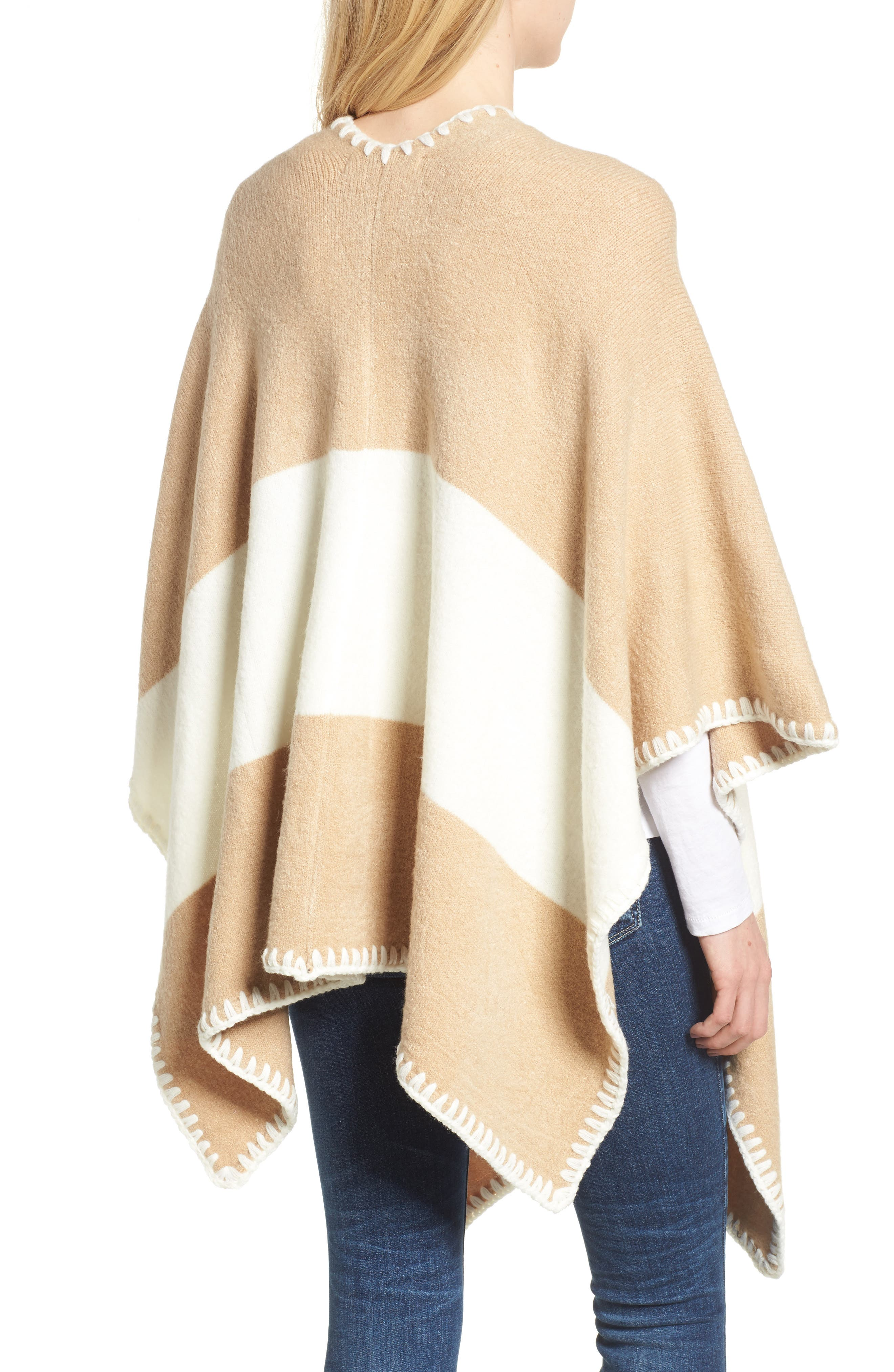 Whipstitched Poncho,                             Alternate thumbnail 2, color,                             252