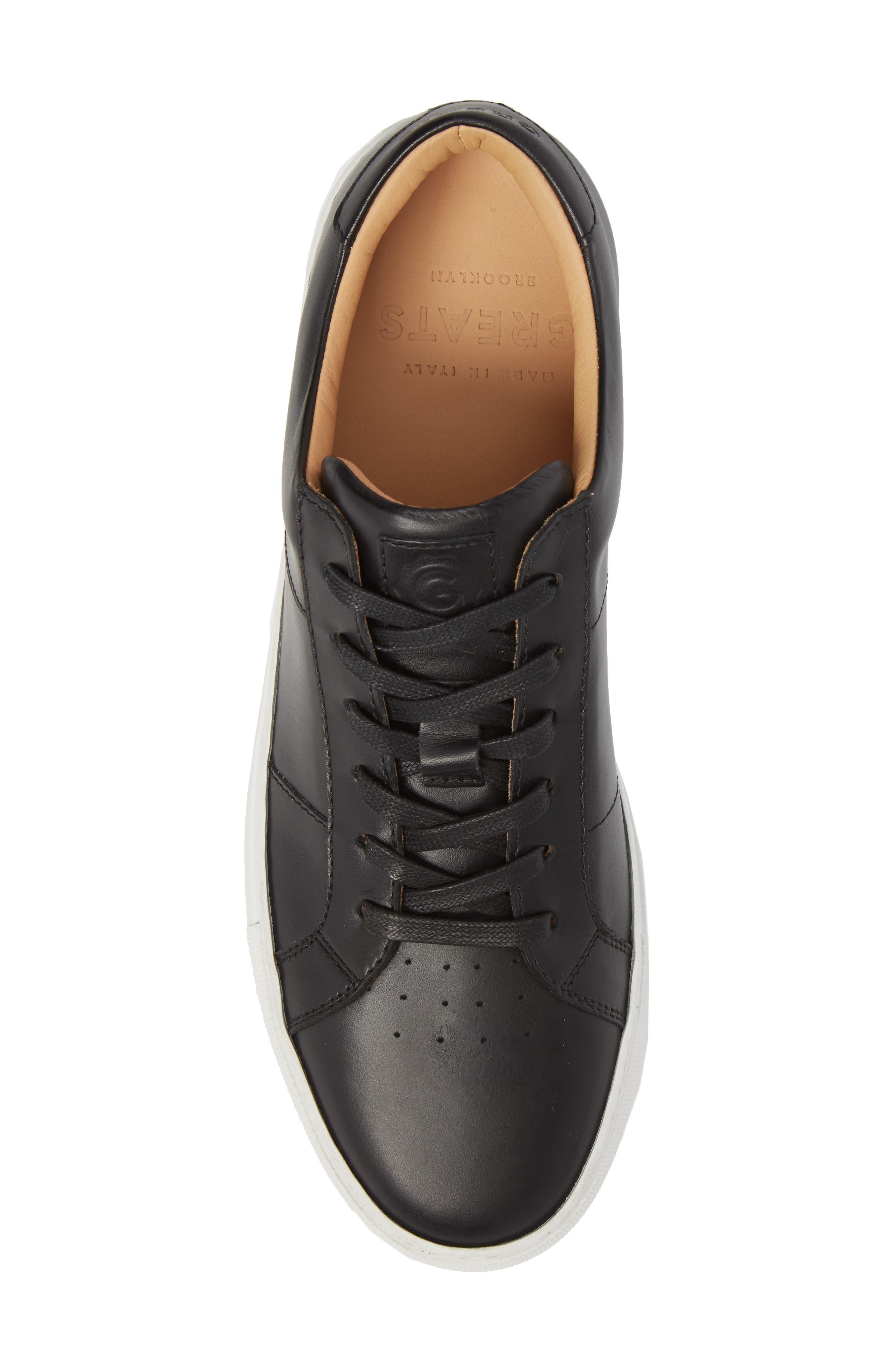 Royale Sneaker,                             Alternate thumbnail 5, color,                             BLACK LEATHER