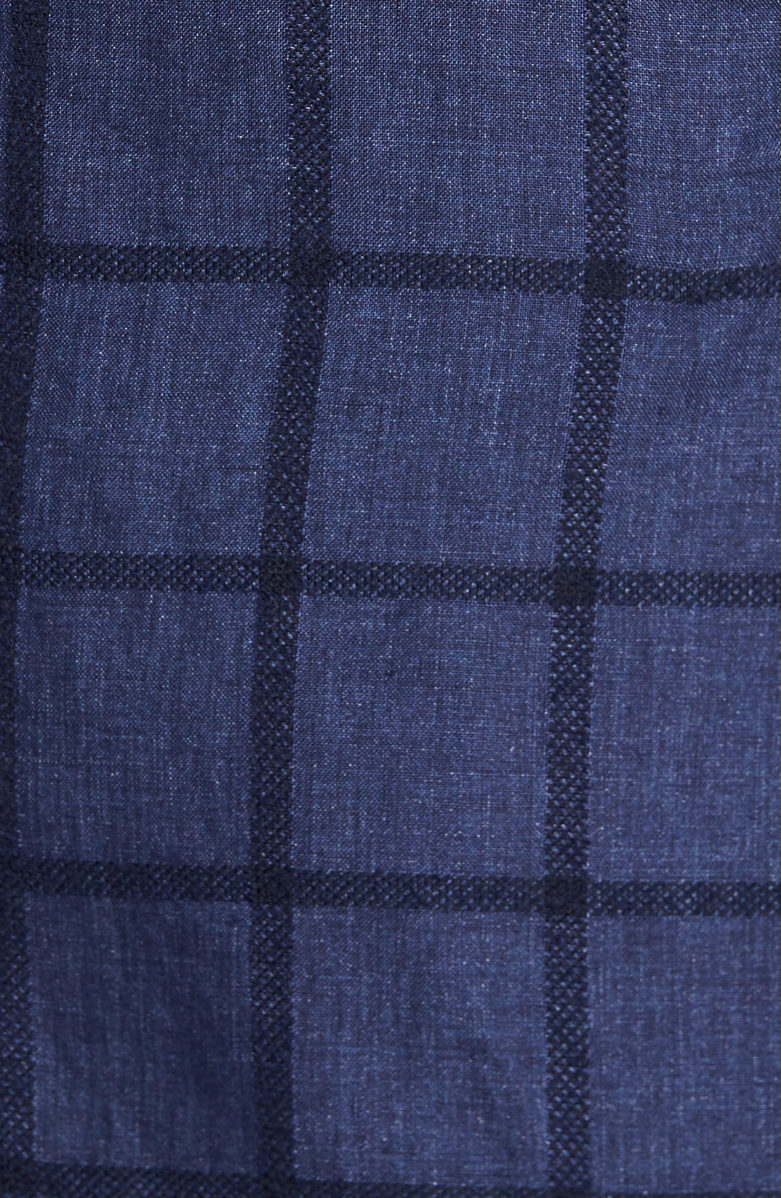 Trim Fit Windowpane Linen Blend Sport Coat,                             Alternate thumbnail 6, color,                             400