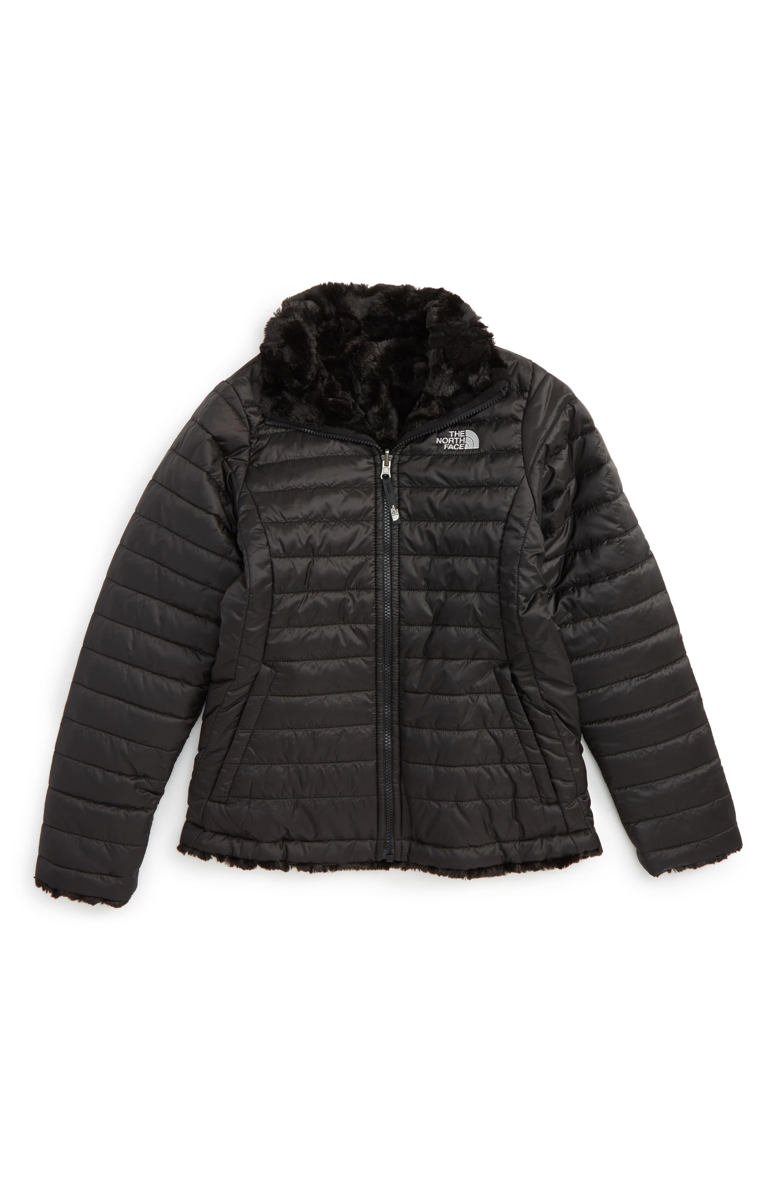 'Mossbud Swirl' Reversible Water Repellent Jacket,                         Main,                         color, TNF BLACK
