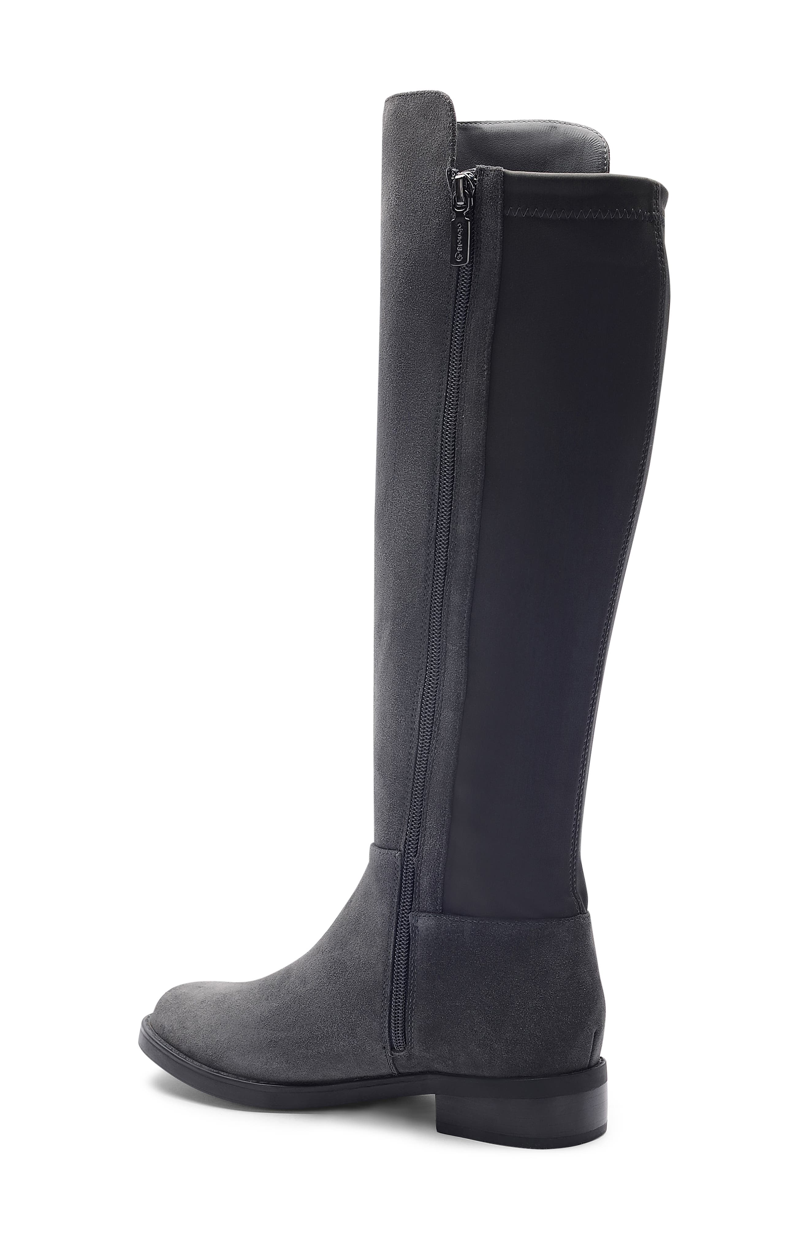 Ellie Waterproof Knee High Riding Boot,                             Alternate thumbnail 2, color,                             DARK GREY SUEDE