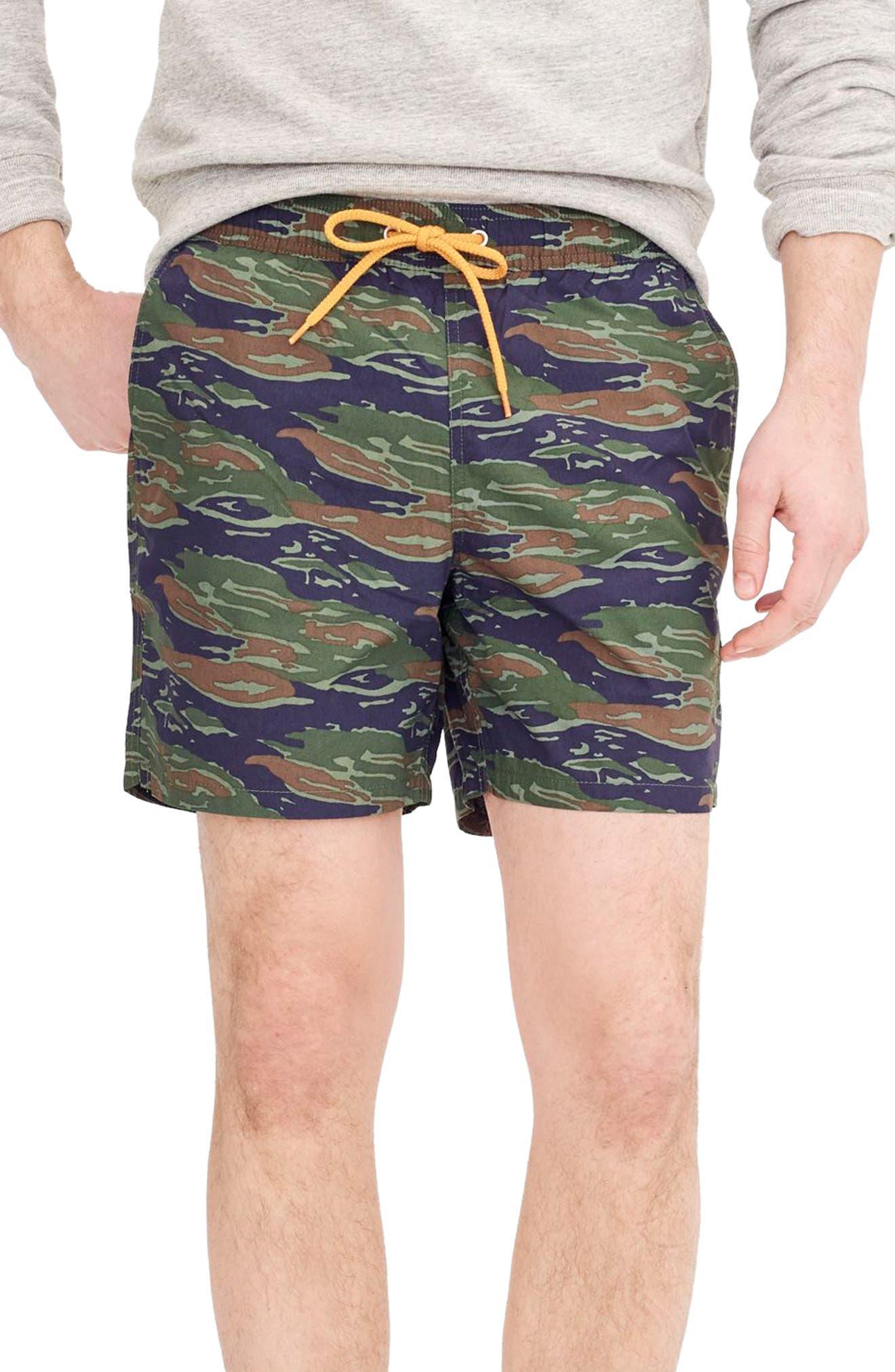 Camo Swim Trunks,                         Main,                         color, 300