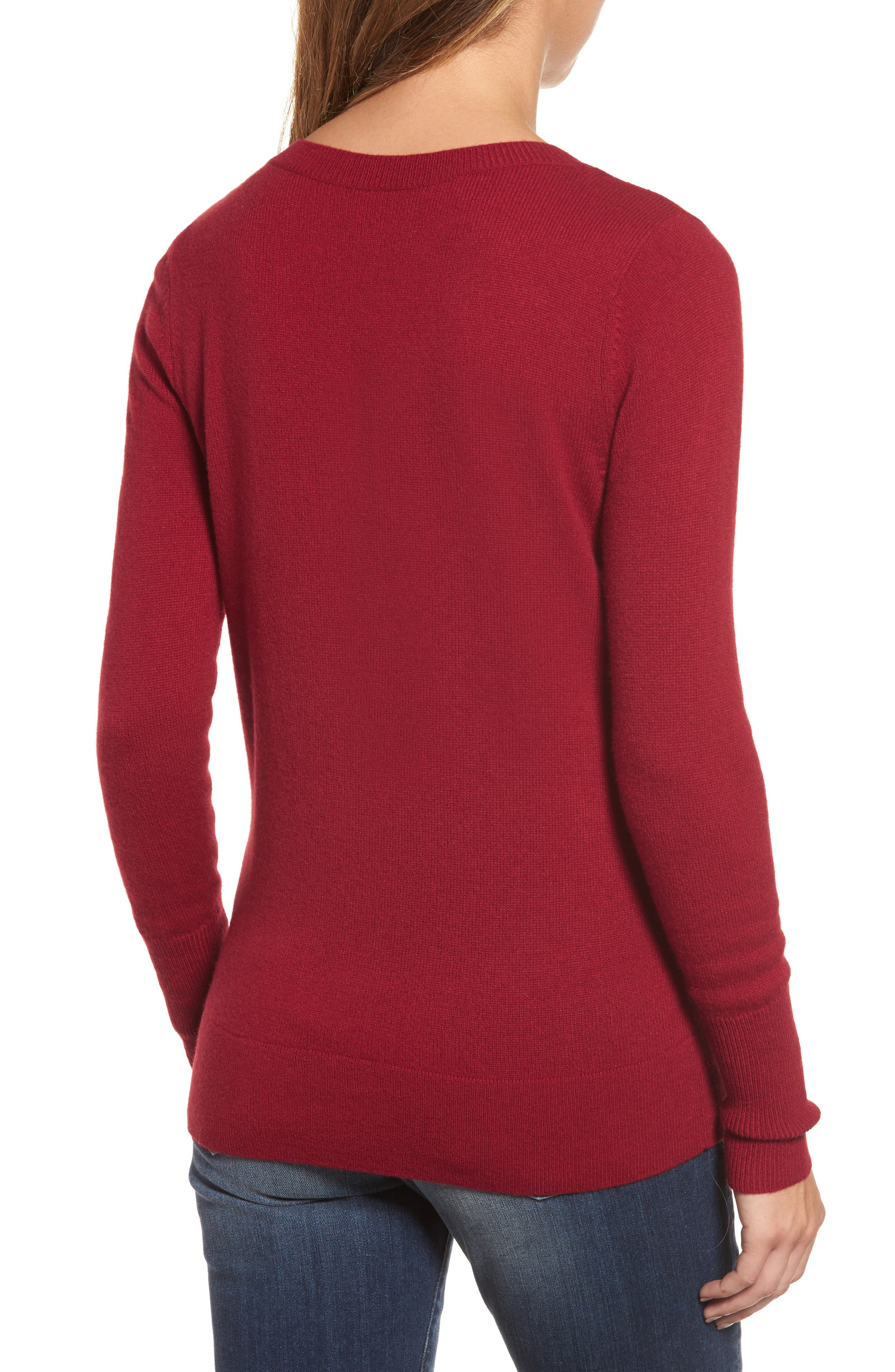 V-Neck Cashmere Sweater,                             Alternate thumbnail 34, color,