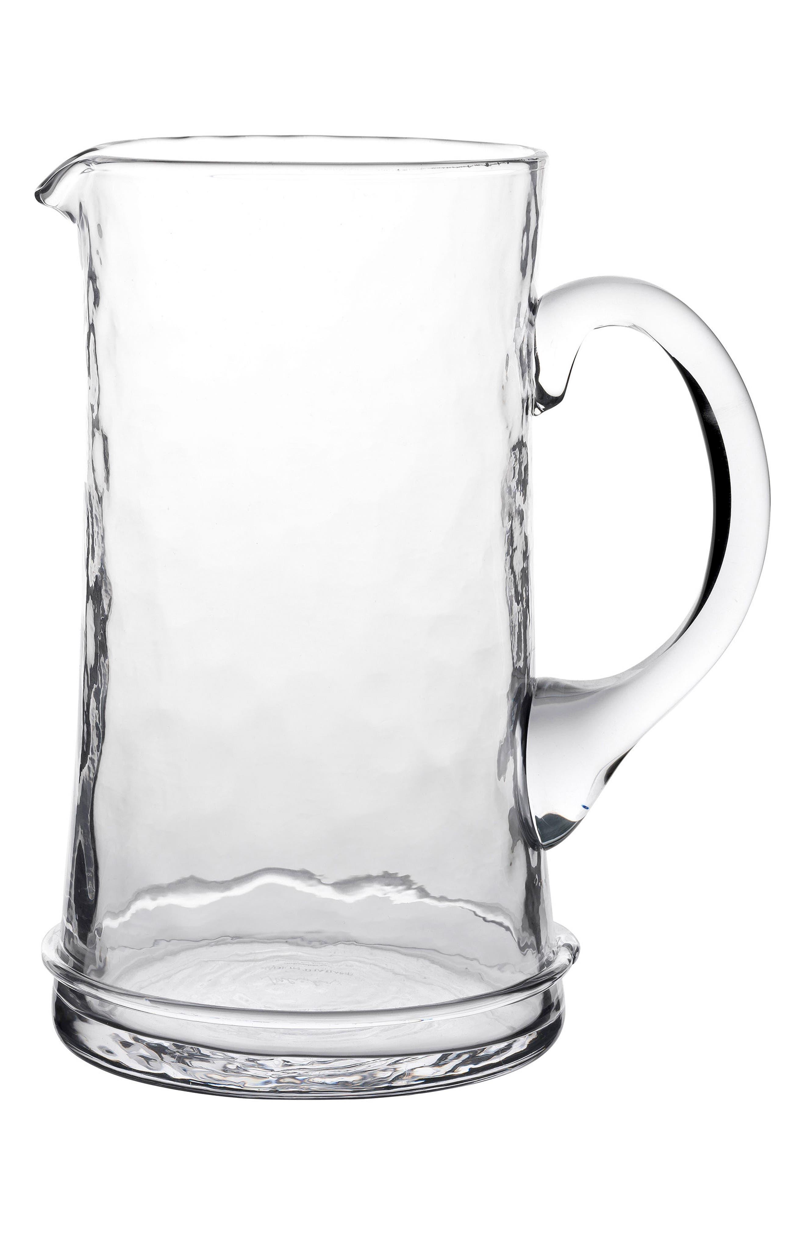 'Carine' Glass Pitcher,                             Alternate thumbnail 2, color,                             WHITE