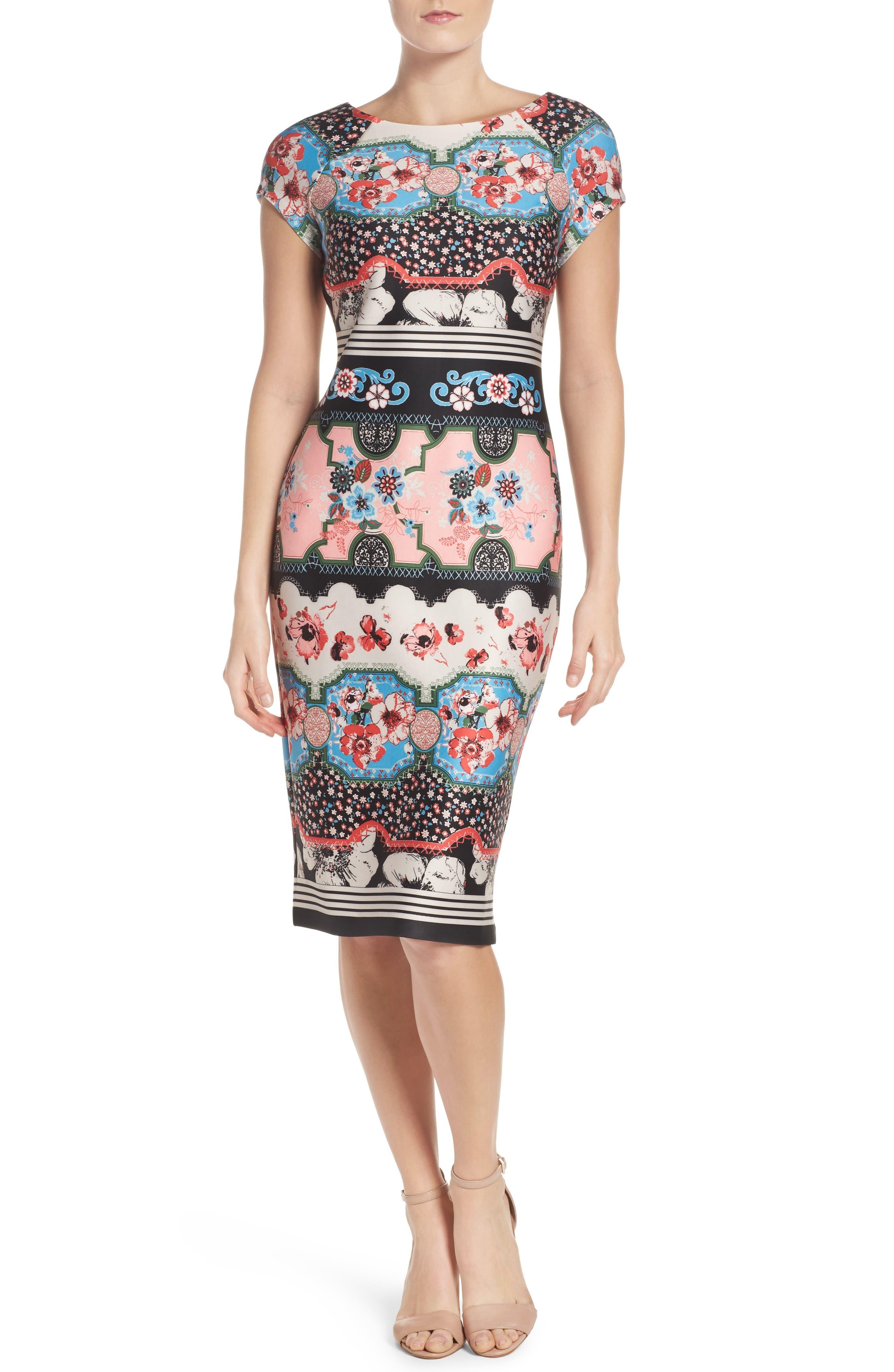 Scuba Sheath Dress,                         Main,                         color, 688
