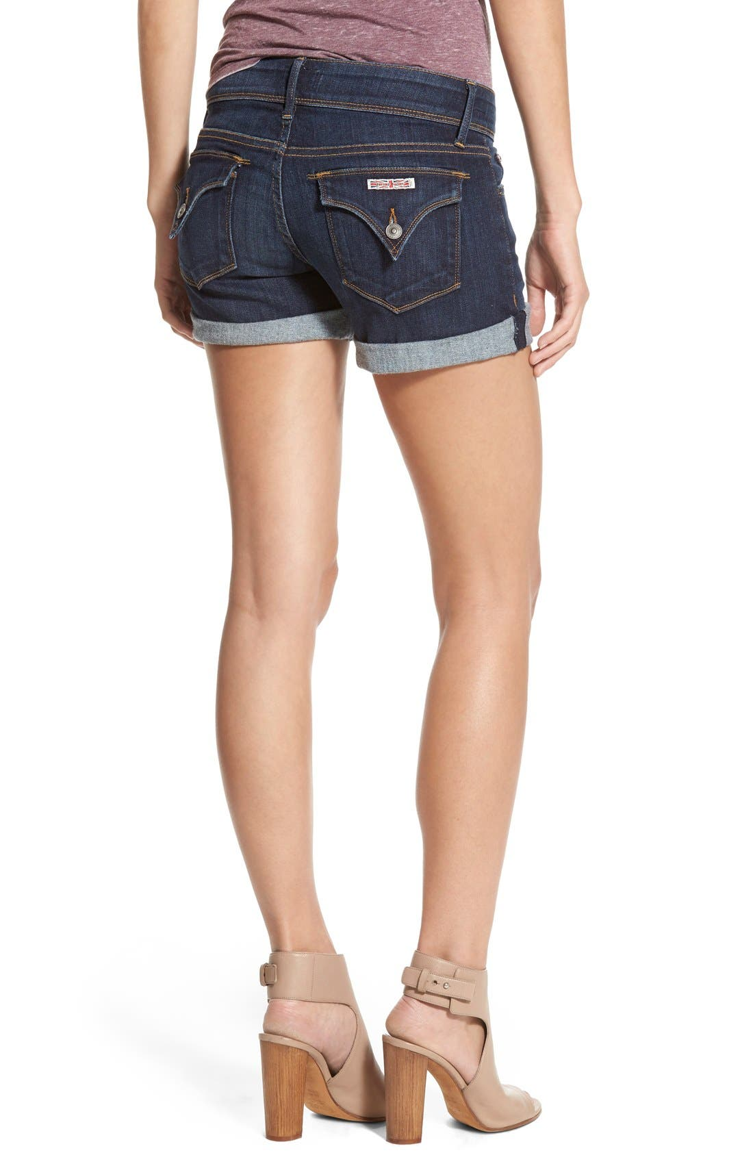 'Croxley' Cuffed Denim Shorts,                             Alternate thumbnail 10, color,