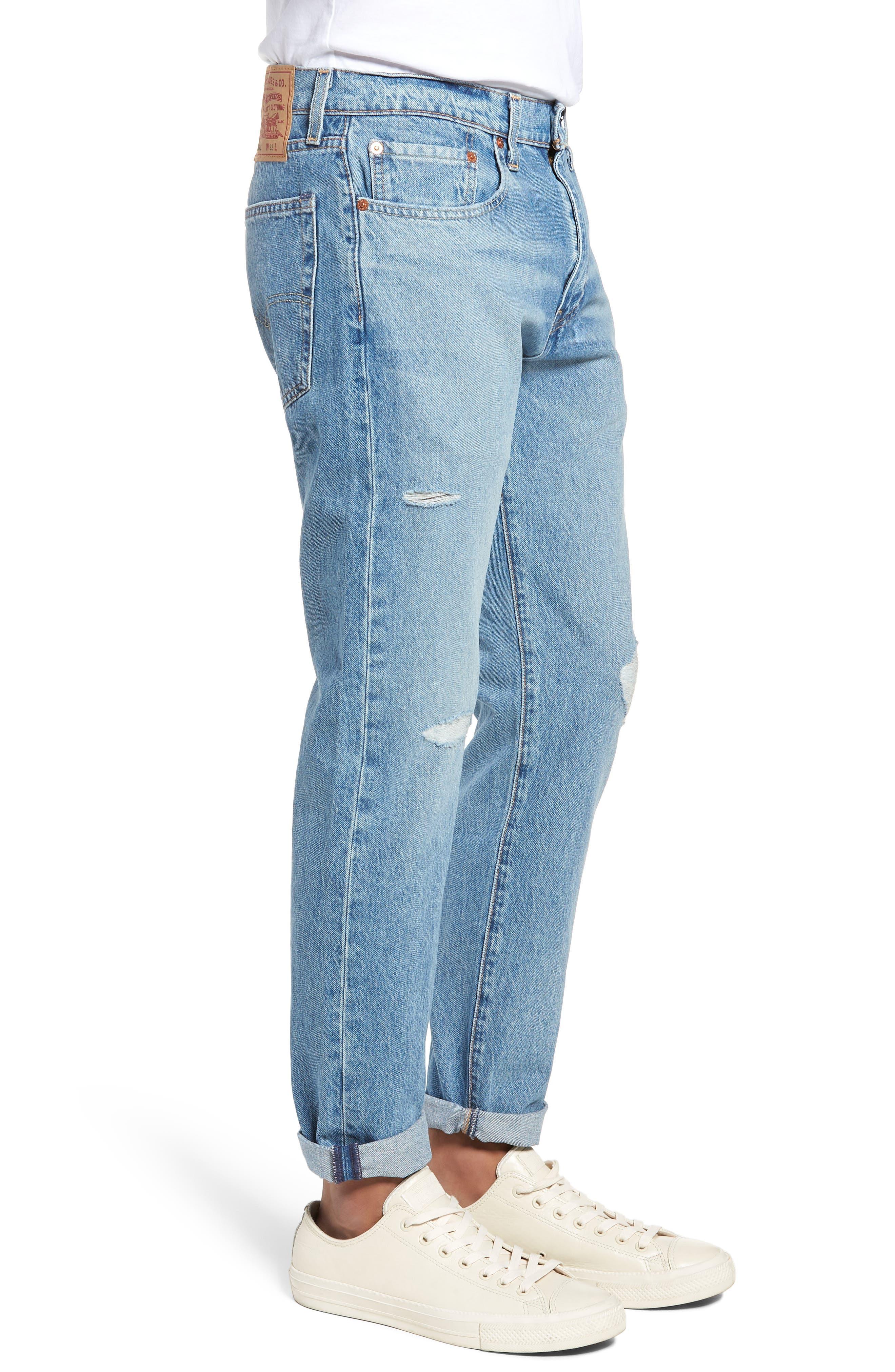 Hi-Ball Straight Leg Jeans,                             Alternate thumbnail 3, color,                             LIGHT BLUE