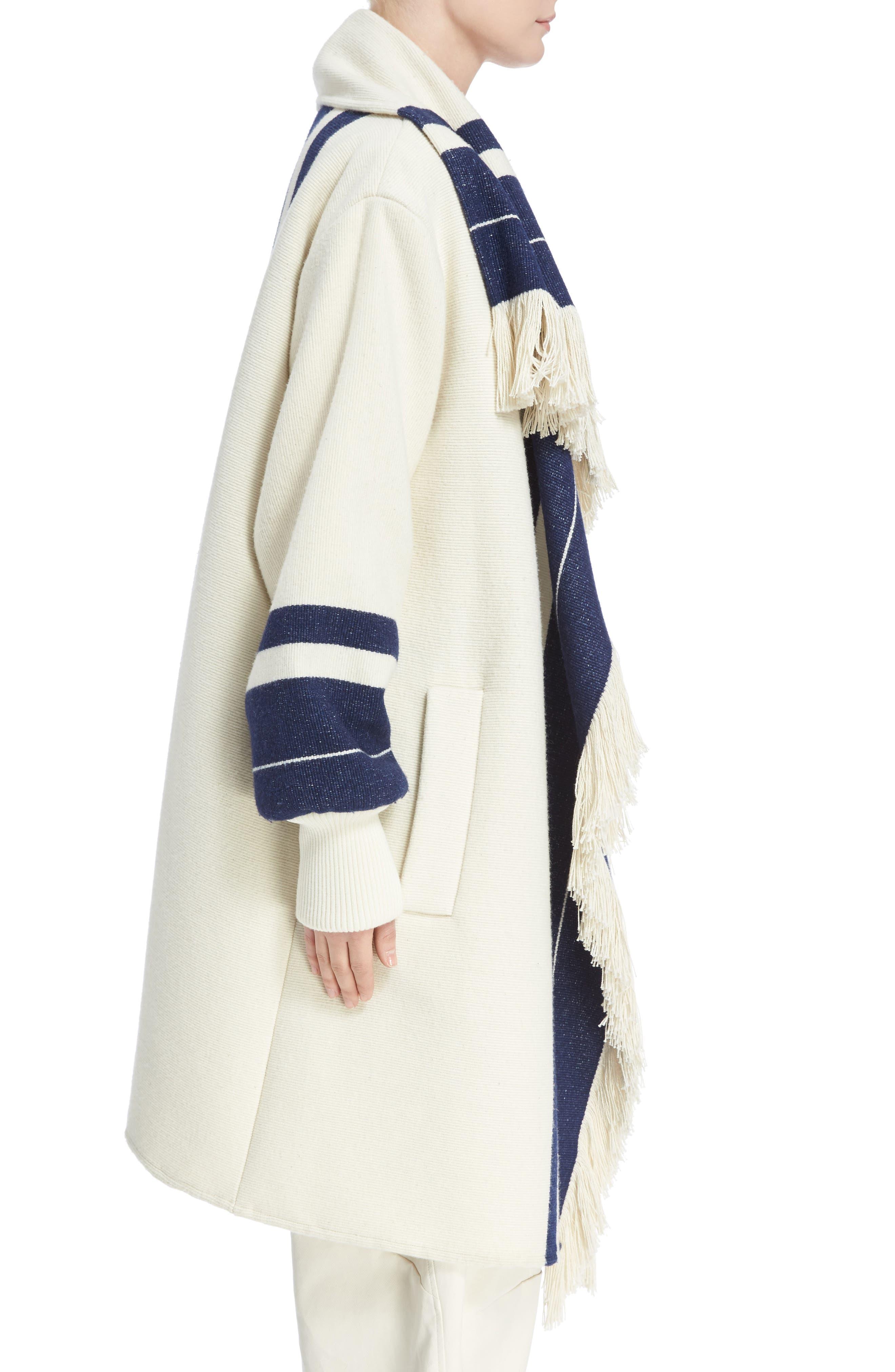 Stripe Blanket Coat,                             Alternate thumbnail 3, color,