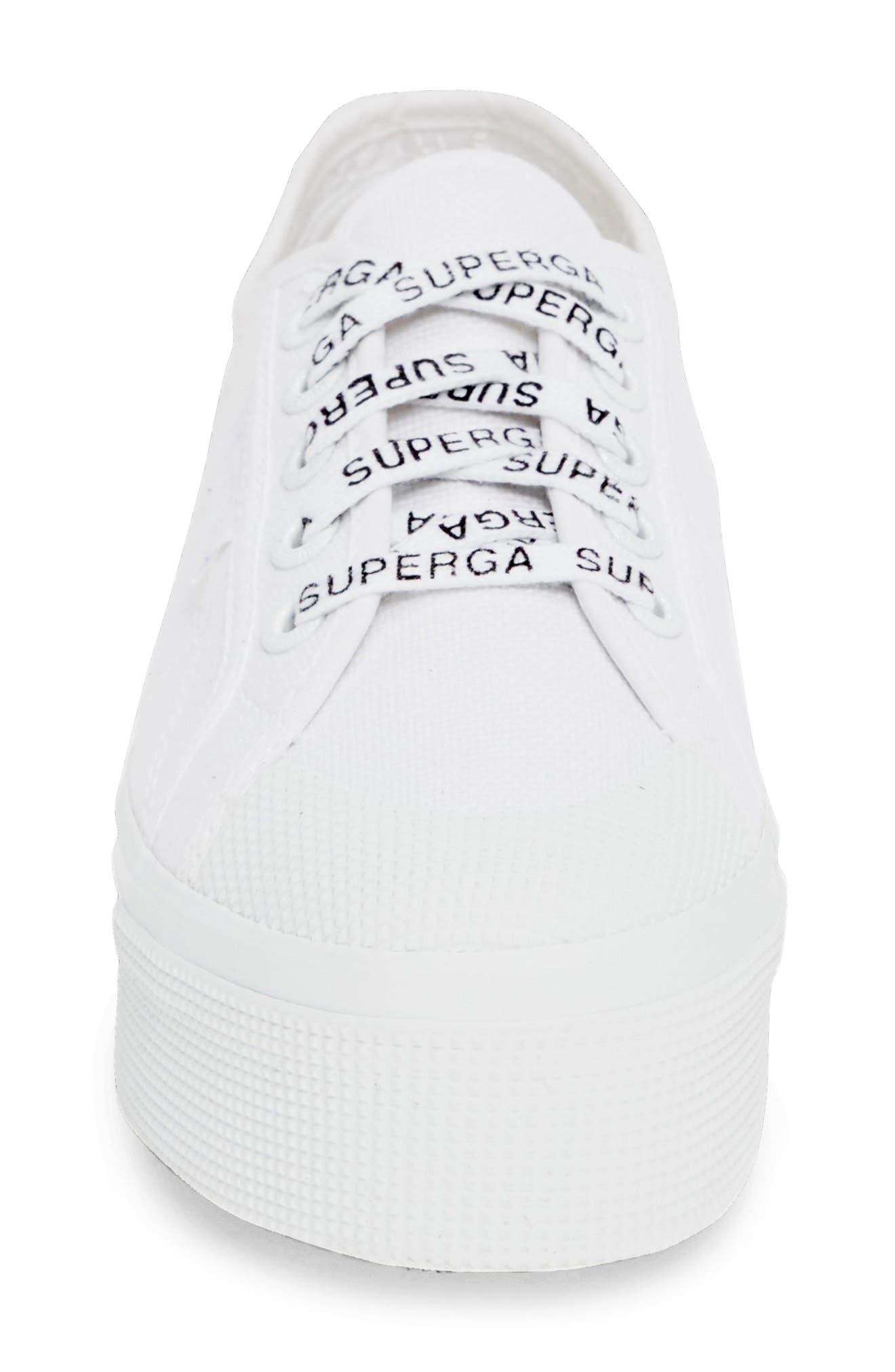 2405 Cotu Platform Sneaker,                             Alternate thumbnail 4, color,                             WHITE/ WHITE