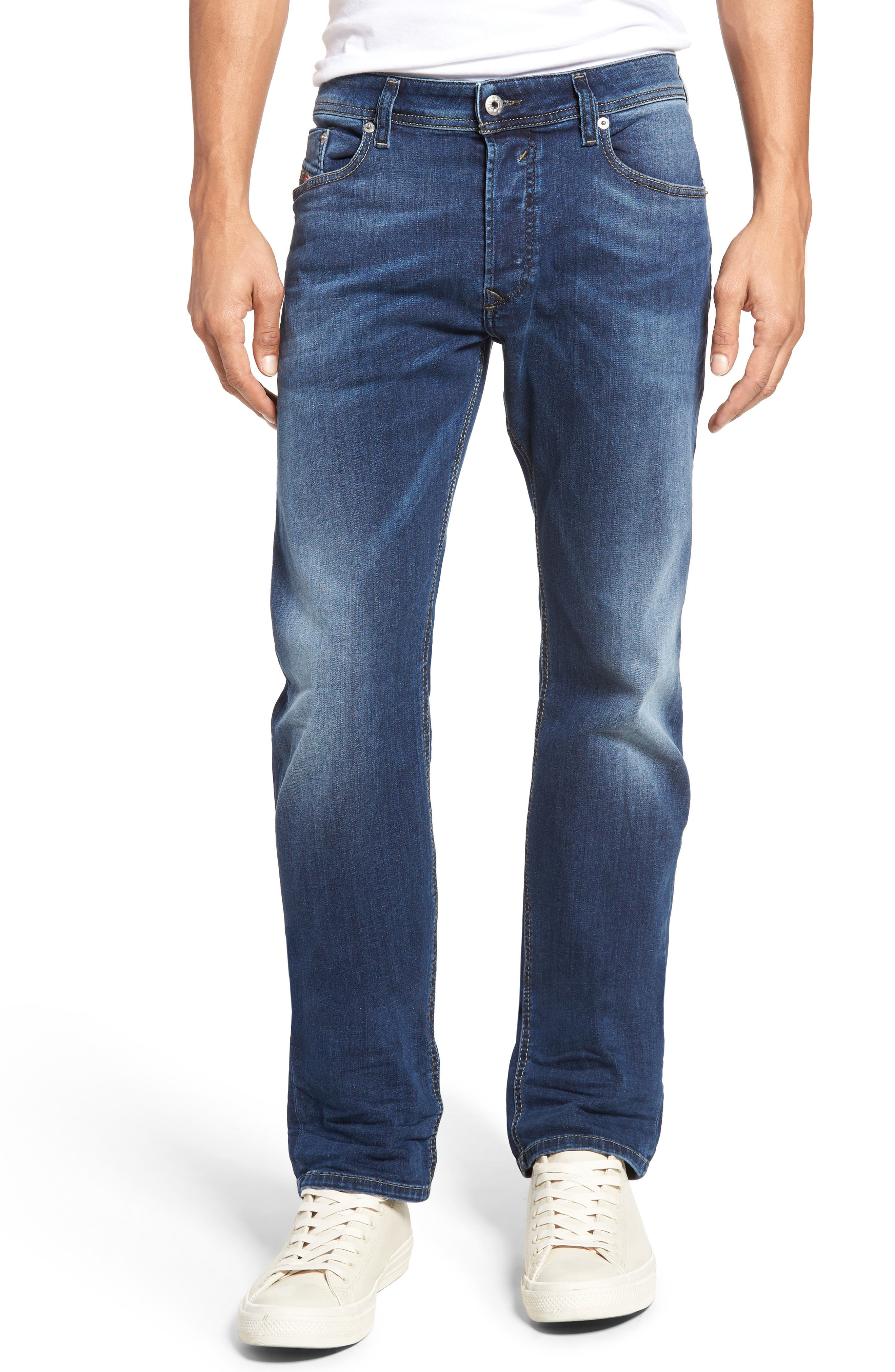 Waykee Straight Leg Jeans,                             Main thumbnail 1, color,                             400
