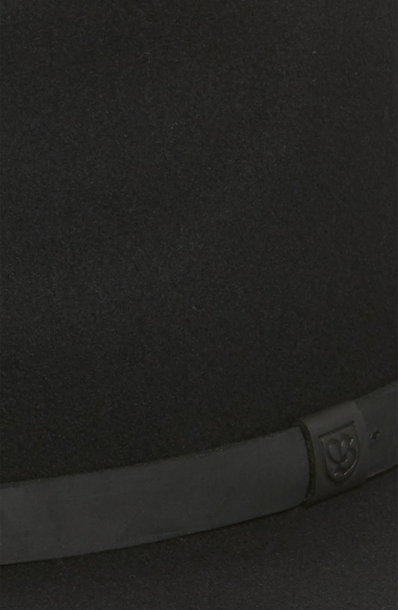 Messer II Felted Wool Fedora,                             Alternate thumbnail 2, color,                             BLACK/ BLACK