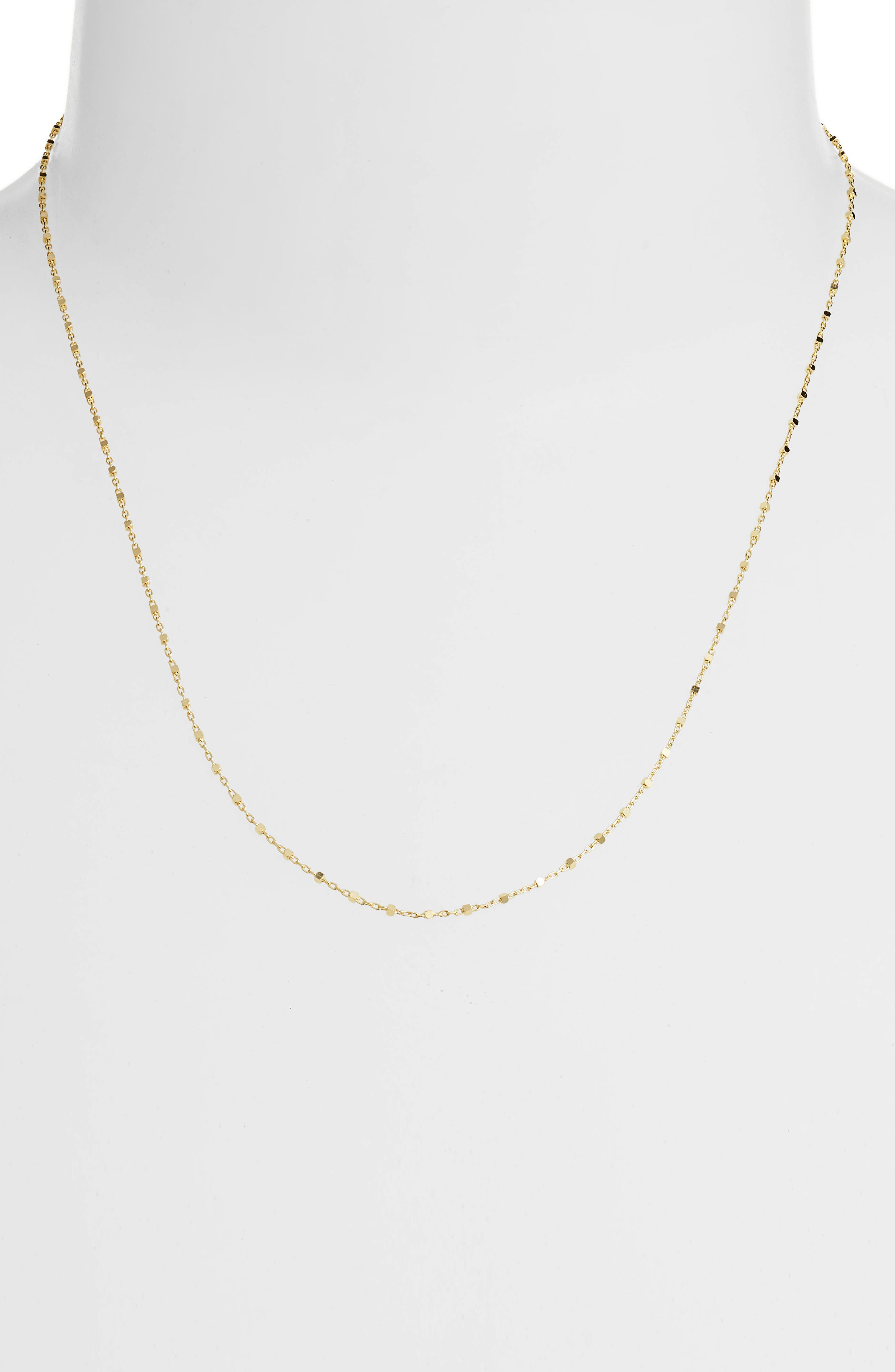 Beaded Chain Necklace,                             Alternate thumbnail 2, color,                             YELLOW GOLD