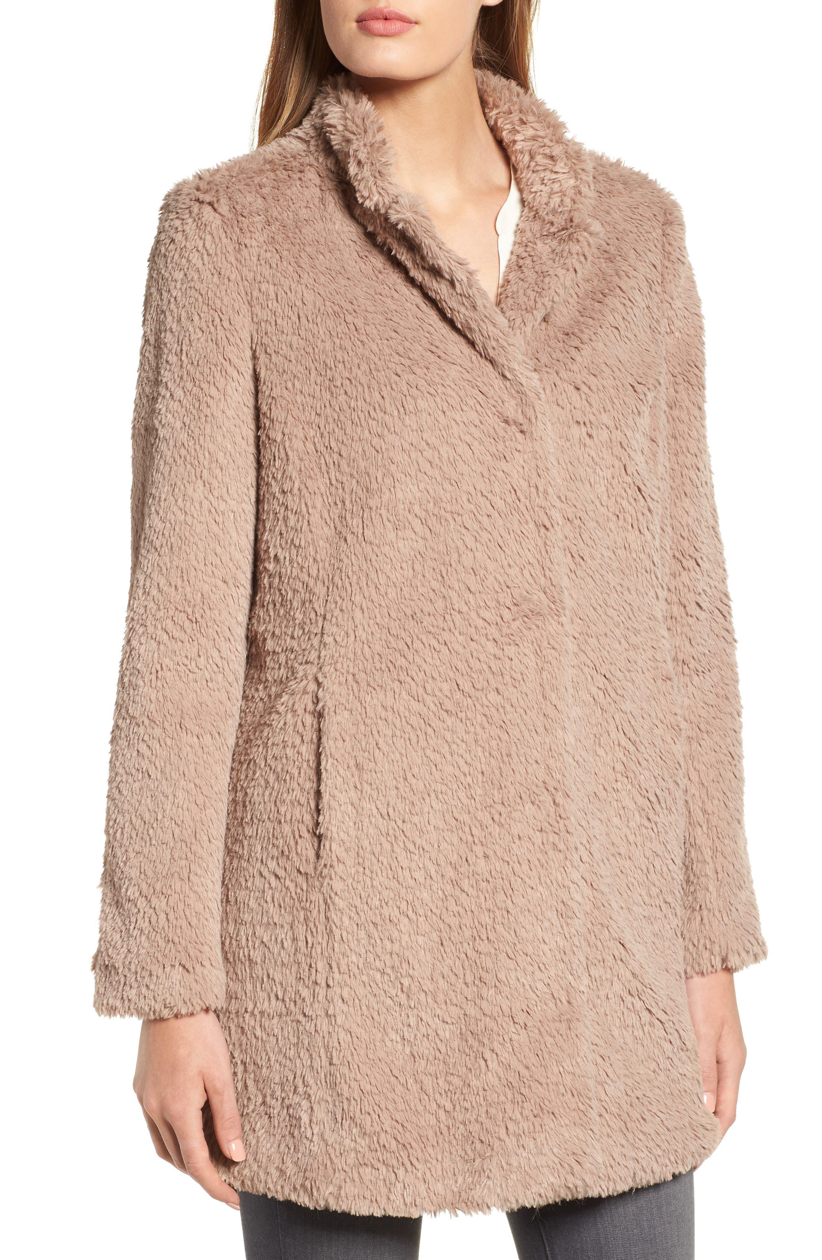 Faux Fur Jacket,                             Alternate thumbnail 20, color,
