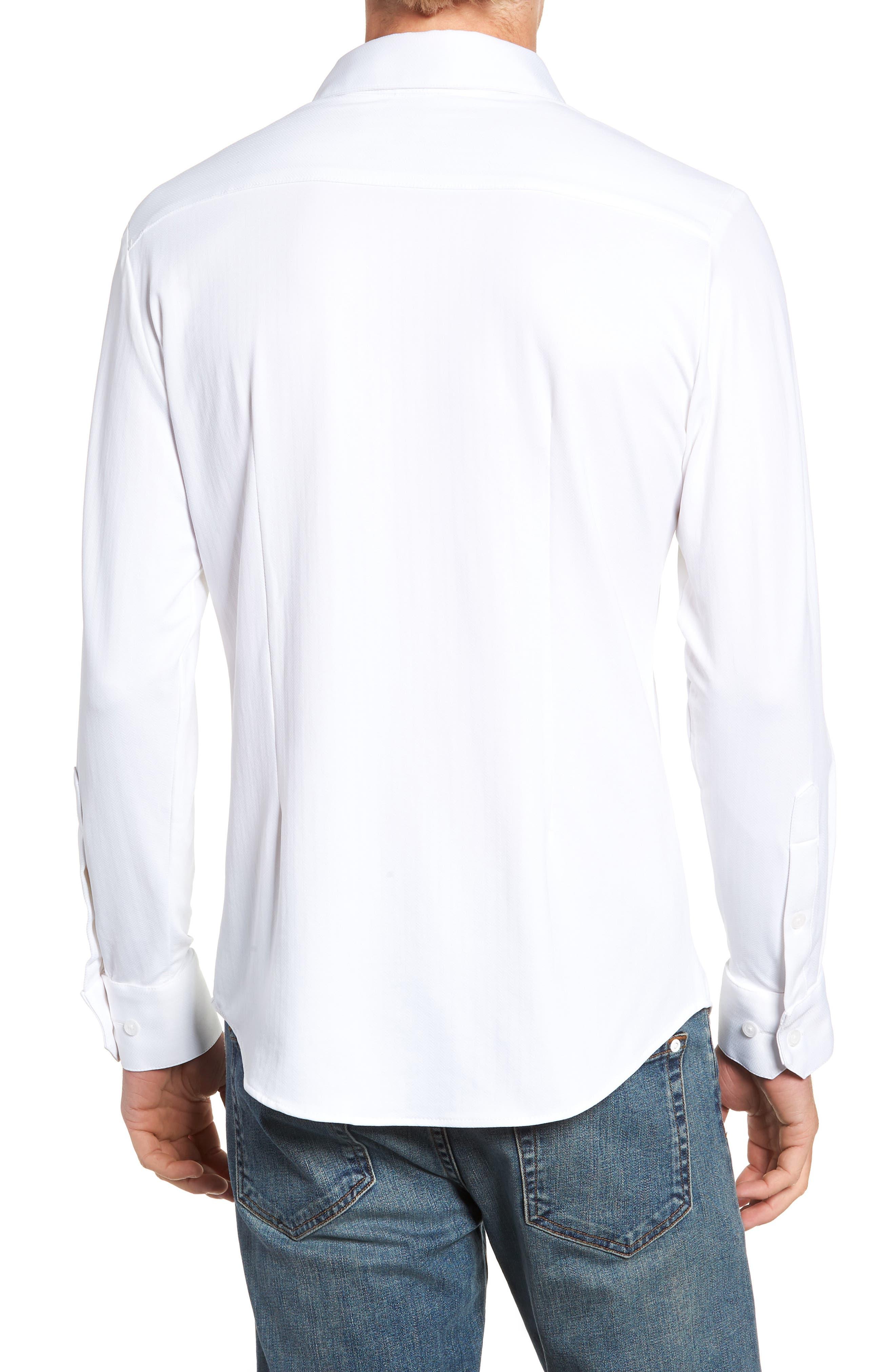 MIZZEN+MAIN,                             Parker Regular Fit Sport Shirt,                             Alternate thumbnail 3, color,                             100