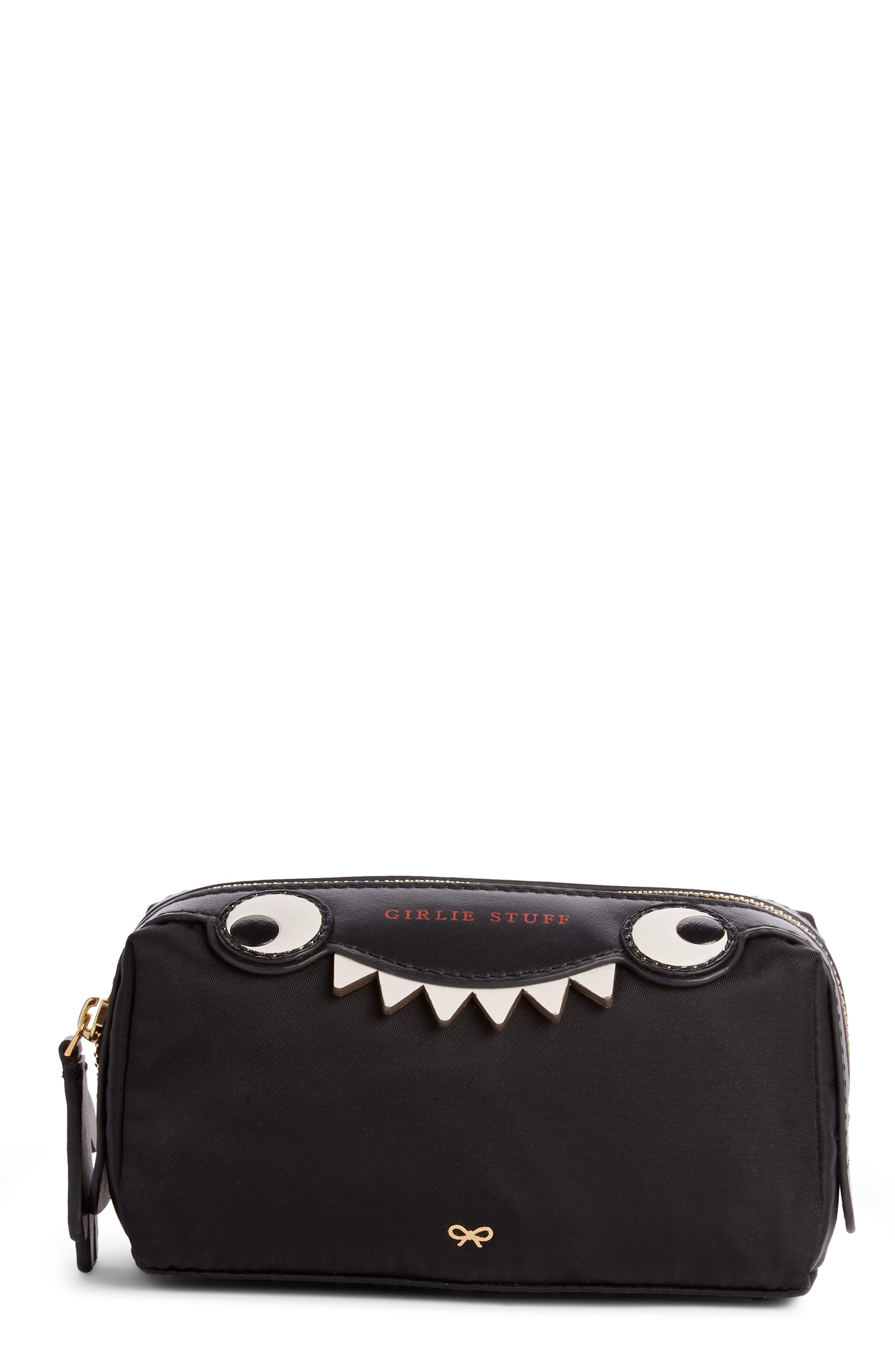 Girlie Stuff Monster Cosmetics Case in Black