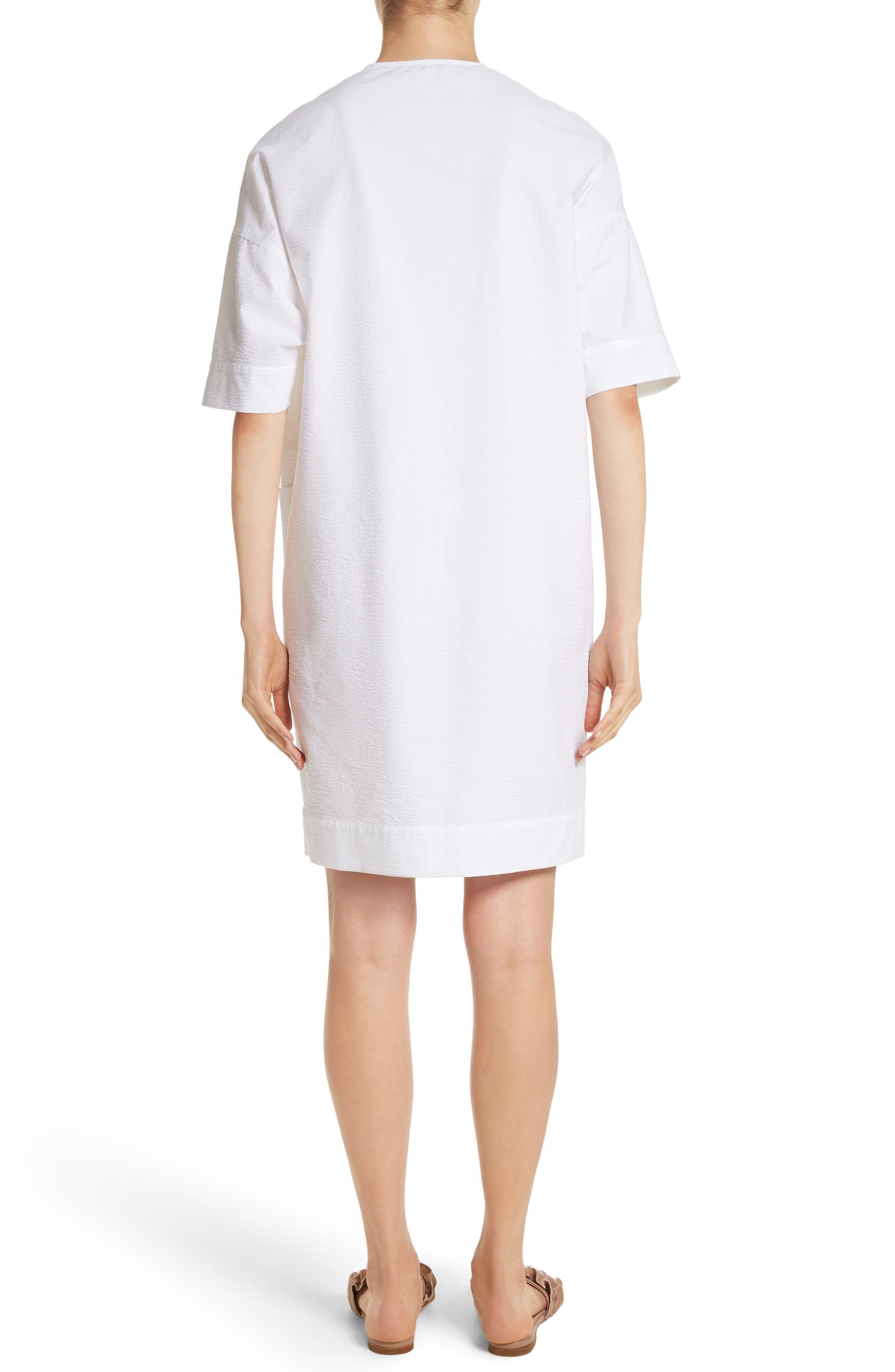 Seersucker Shift Dress,                             Alternate thumbnail 2, color,                             100