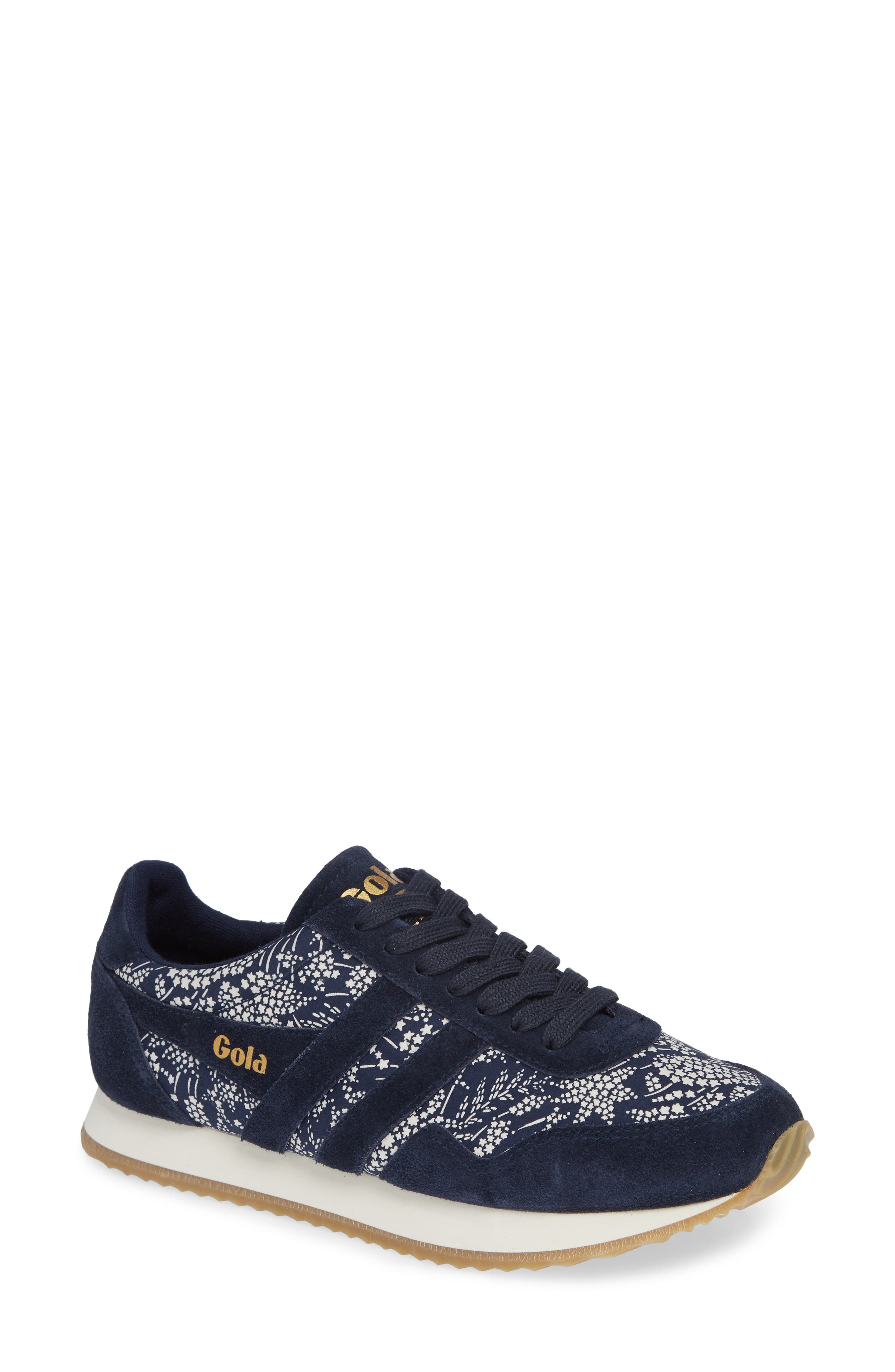 GOLA X Liberty Fabrics Collection Bullet Sneaker in Navy/ Off White