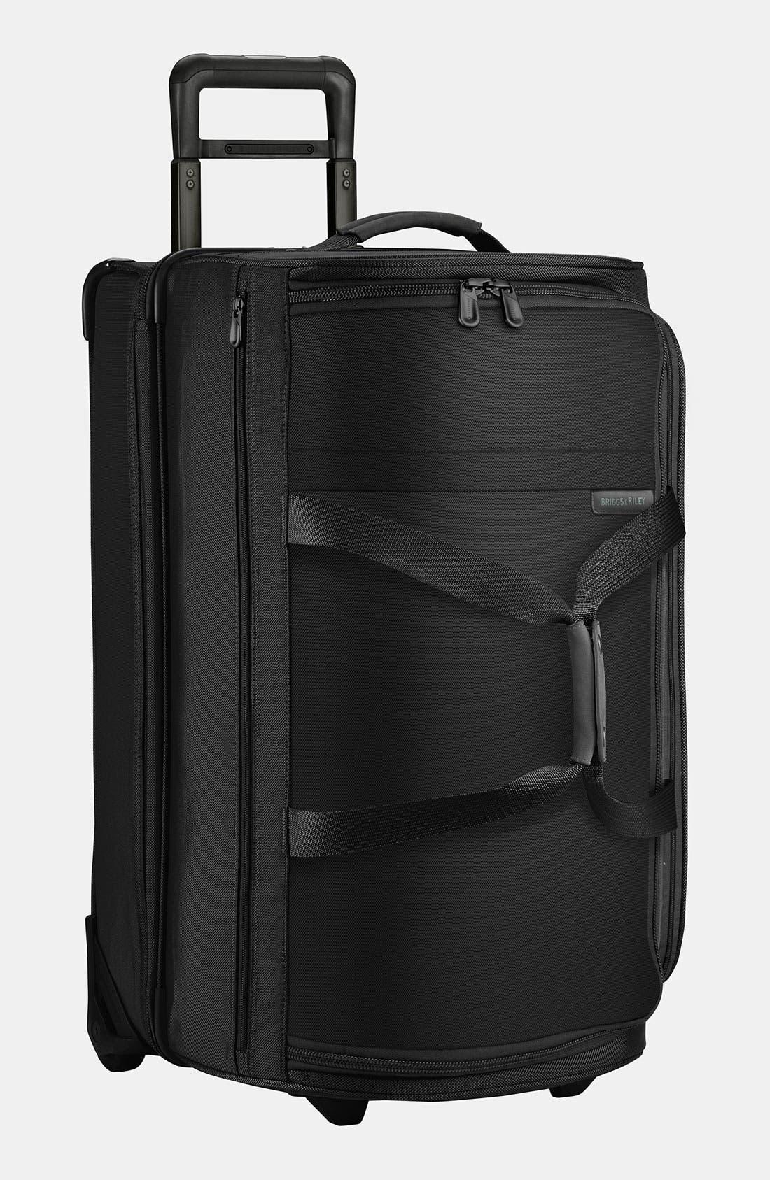 'Medium Baseline' Rolling Duffel Bag,                             Main thumbnail 1, color,                             BLACK
