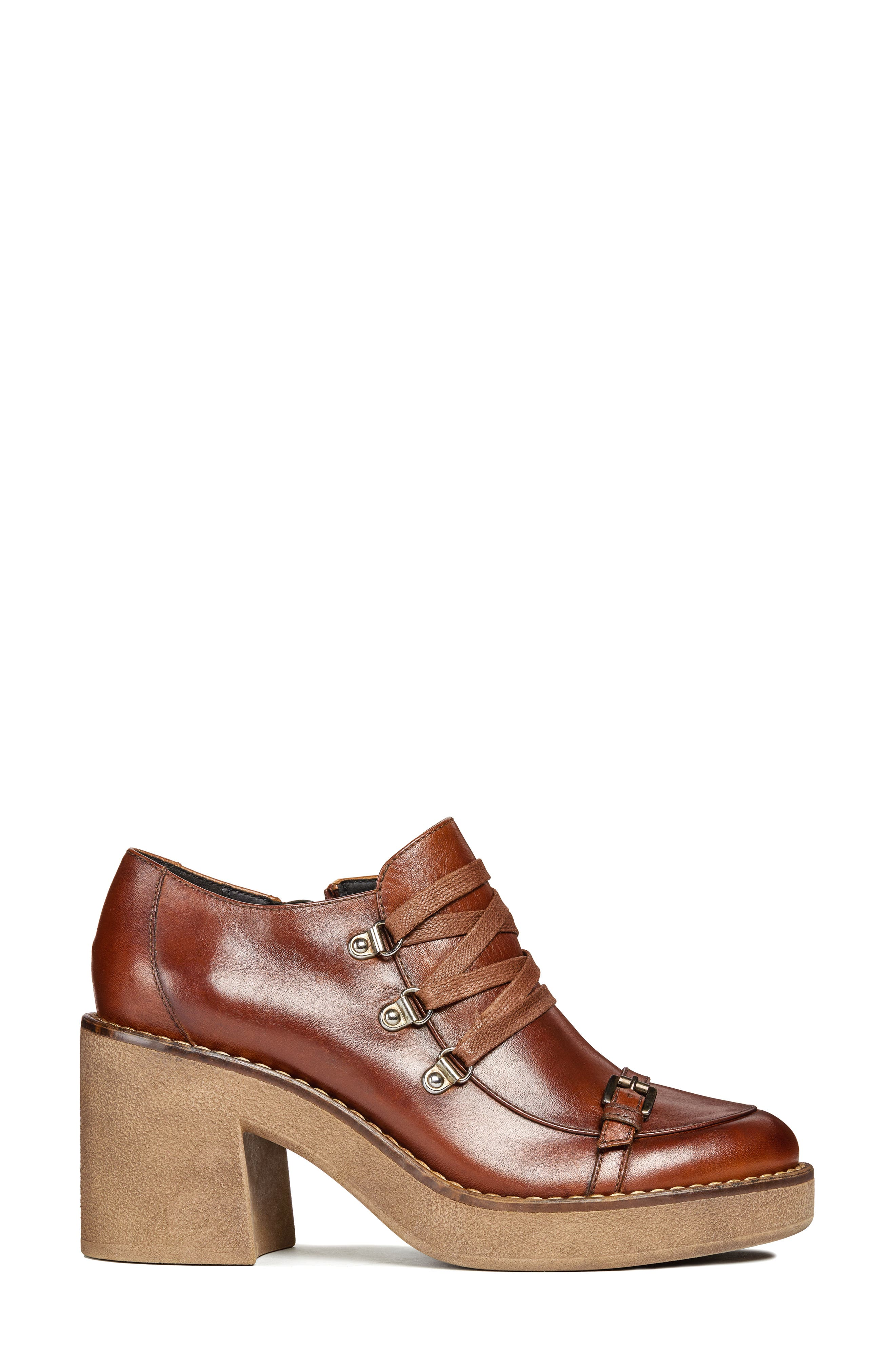Adrya Bootie,                             Alternate thumbnail 3, color,                             BROWN LEATHER