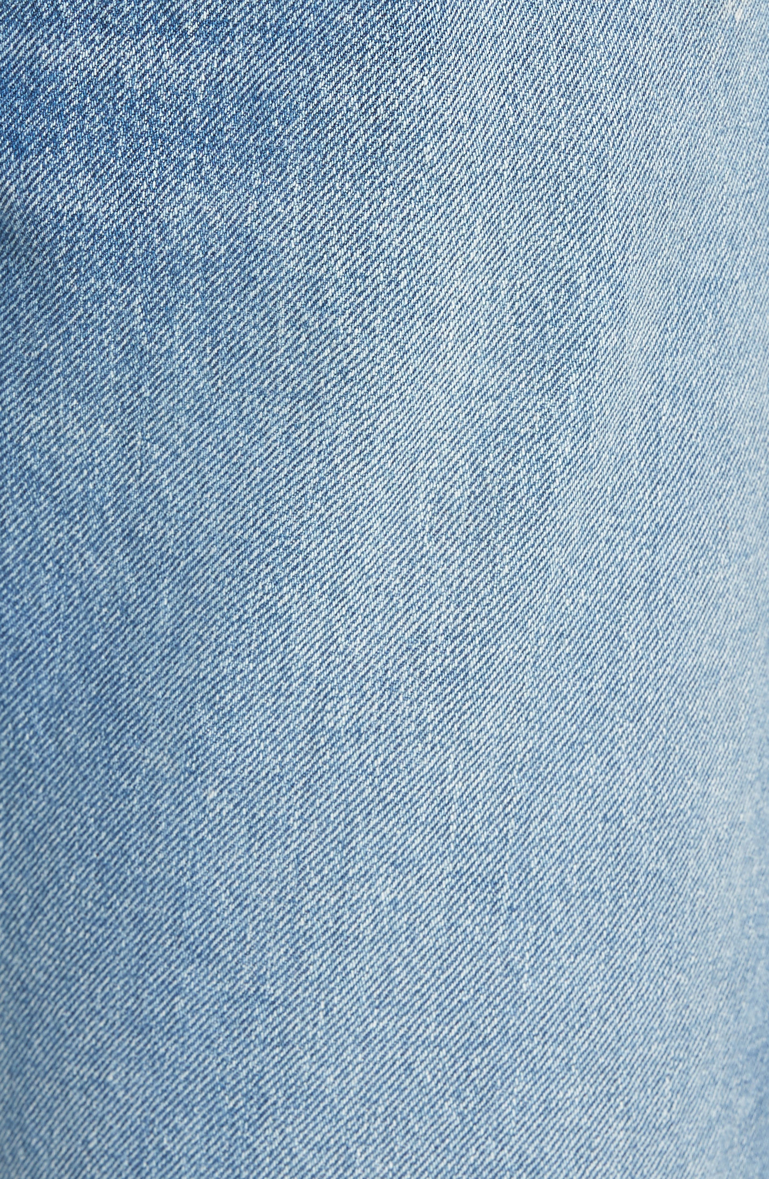 501<sup>®</sup> Original Straight Leg Cutoff Jeans,                             Alternate thumbnail 5, color,                             421