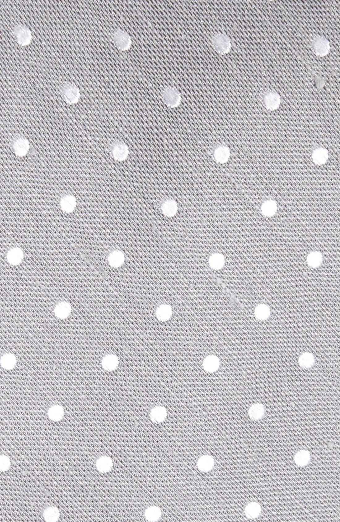 Dot Silk & Linen Tie,                             Alternate thumbnail 2, color,                             040