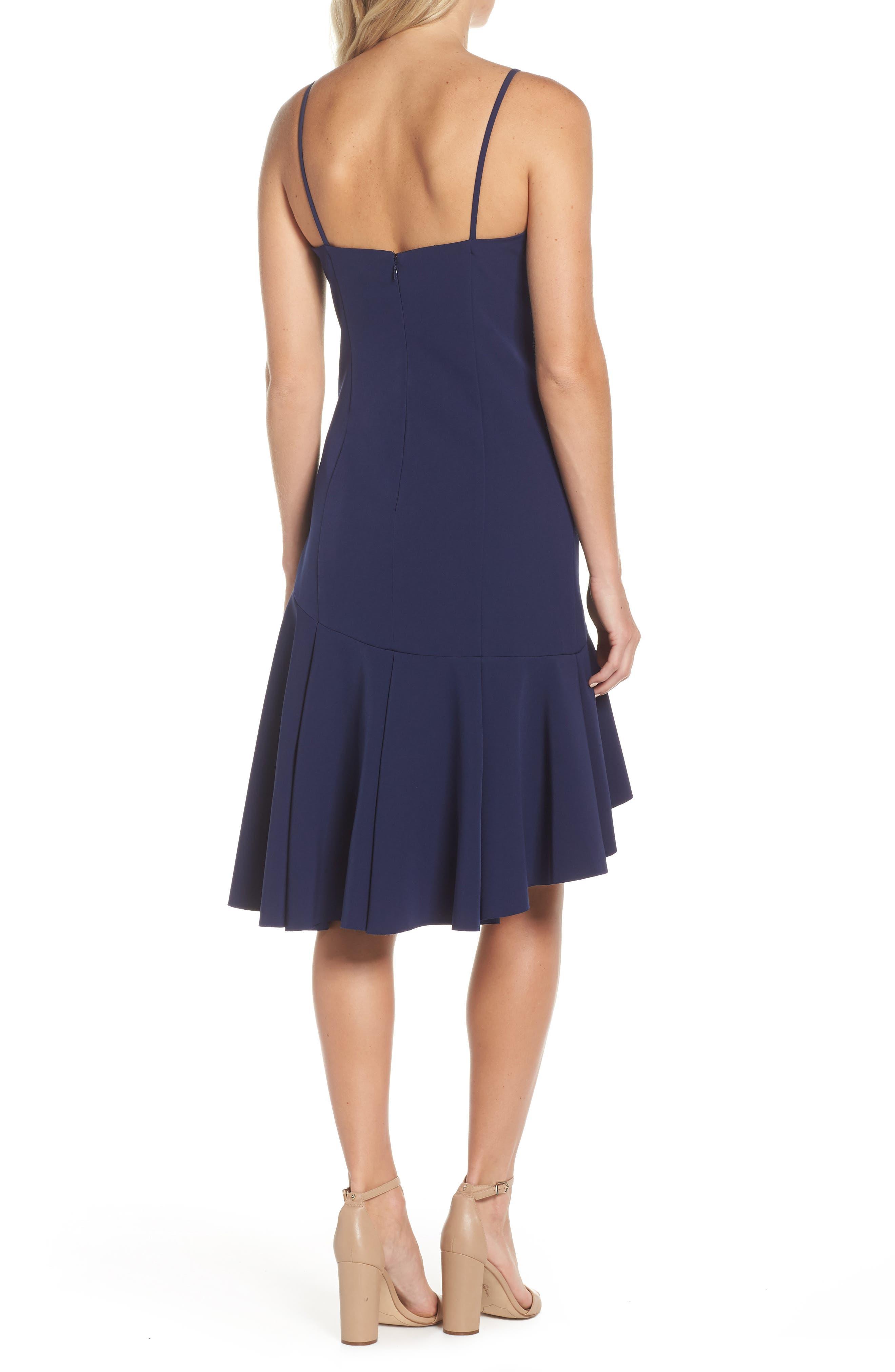 High/Low Ruffle Hem Dress,                             Alternate thumbnail 2, color,                             410