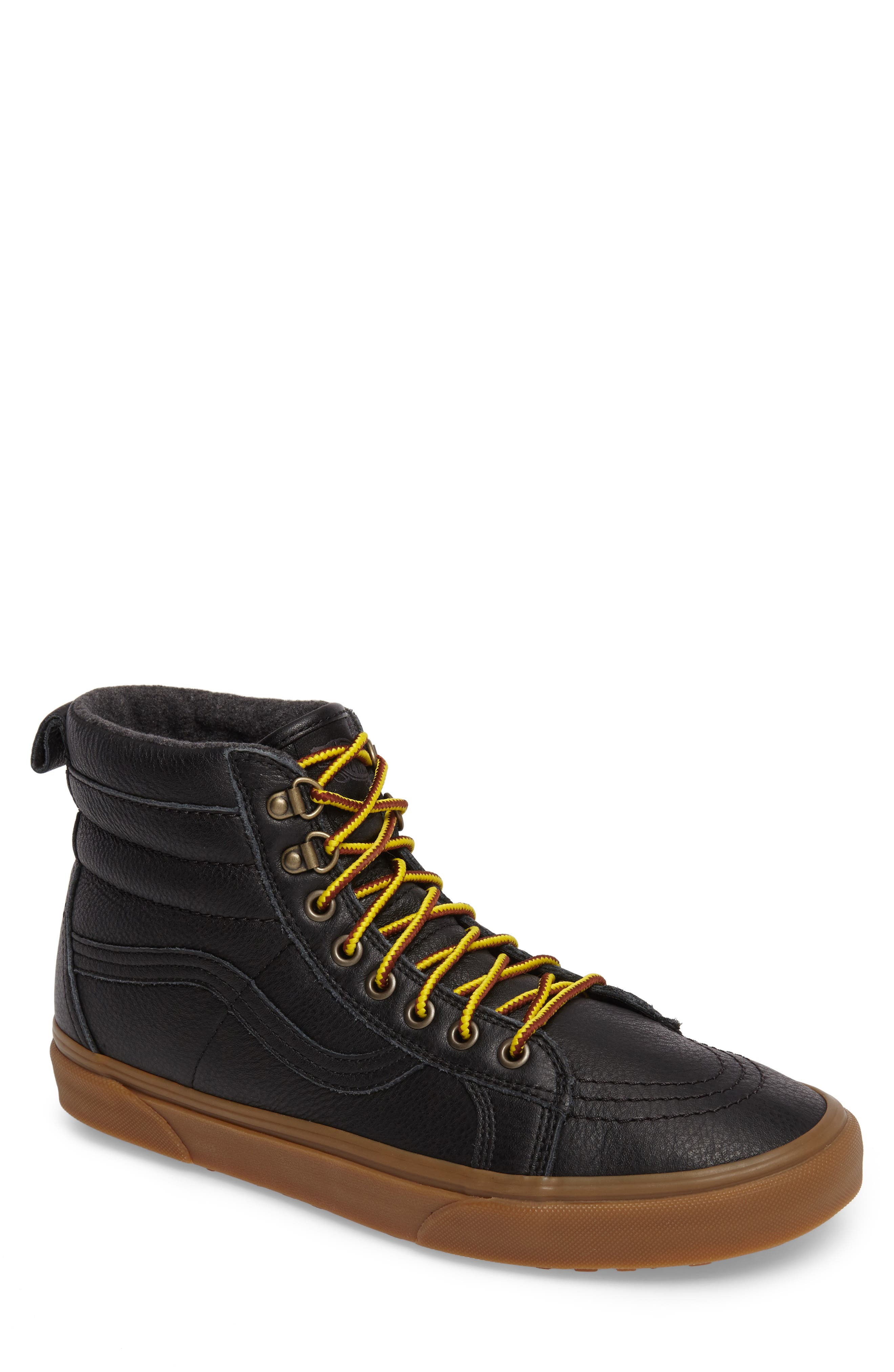 SK8-Hi MTE Insulated Water Resistant Sneaker,                         Main,                         color, 001