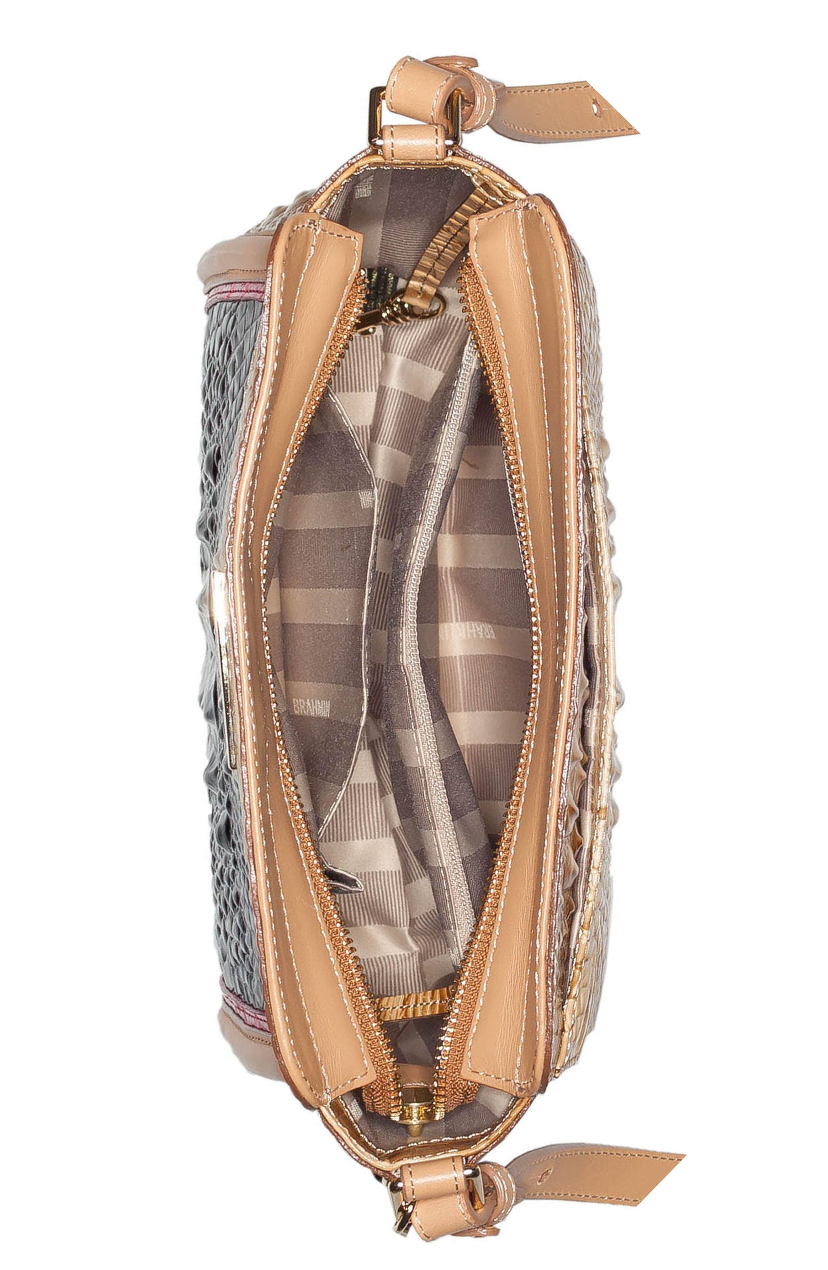 Carrie Leather Crossbody Bag,                             Alternate thumbnail 3, color,                             400