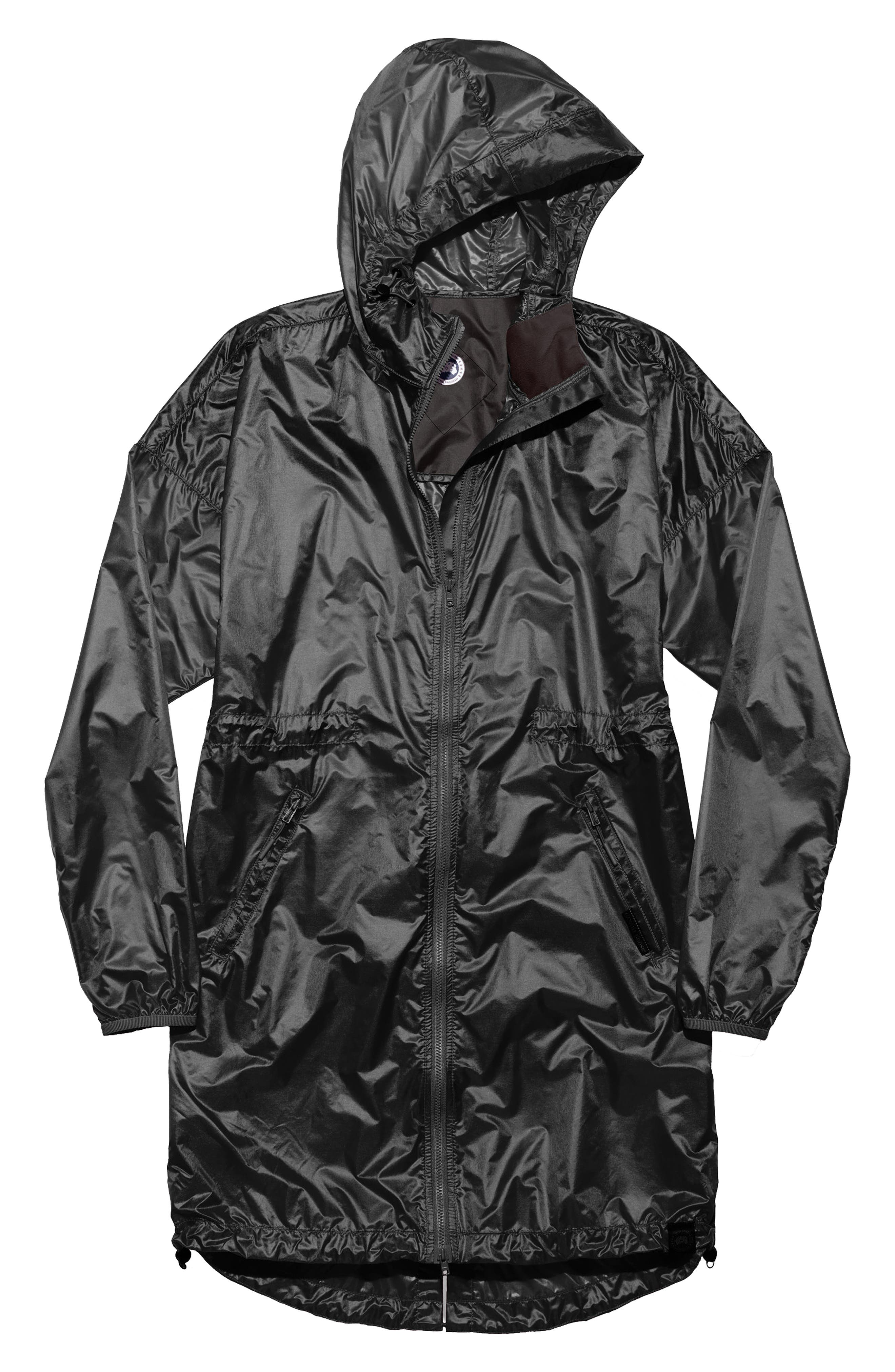 Rosewell Hooded Jacket,                             Alternate thumbnail 4, color,                             BLACK