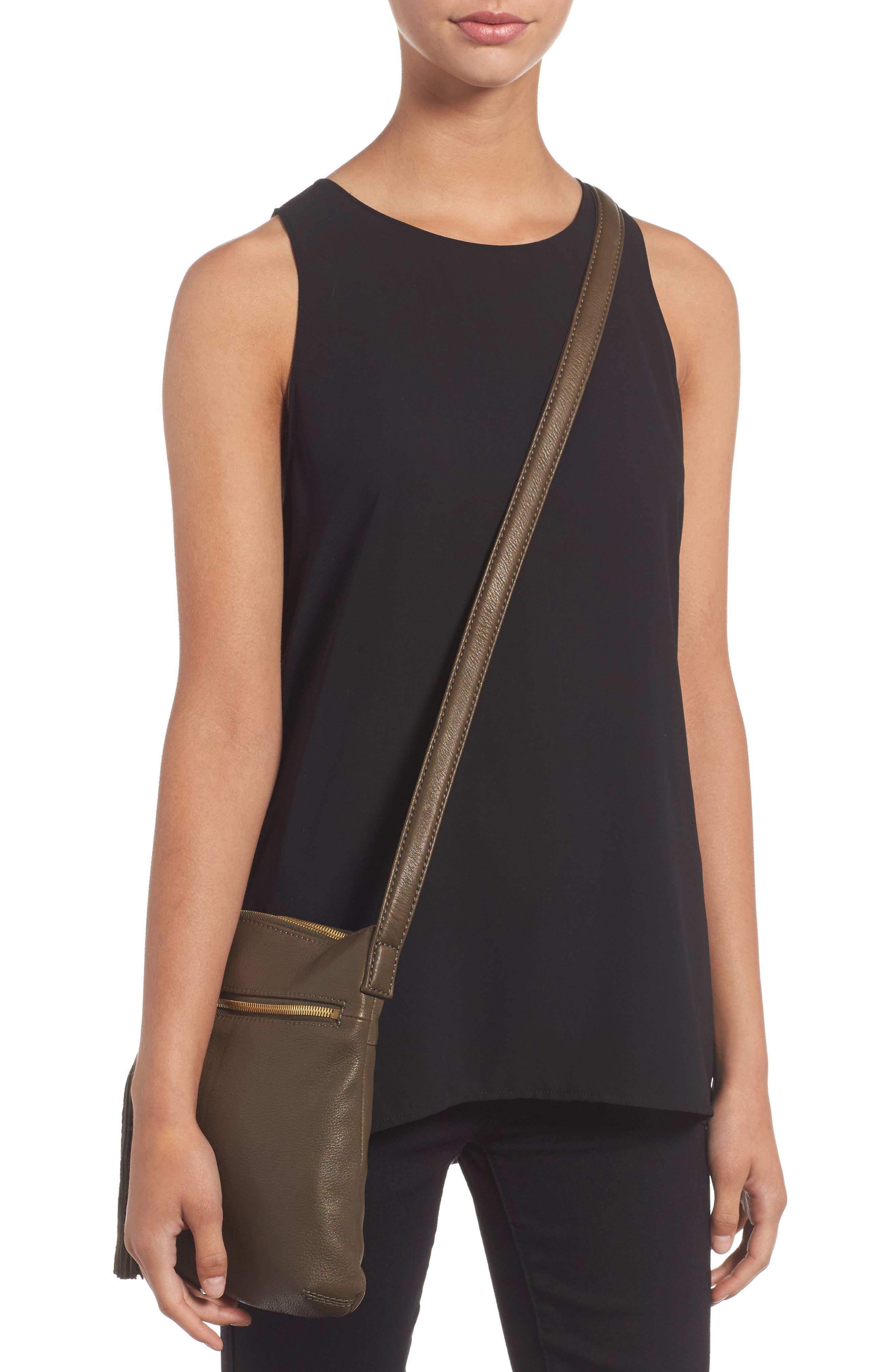 'Sarah' Leather Crossbody Bag,                             Alternate thumbnail 11, color,