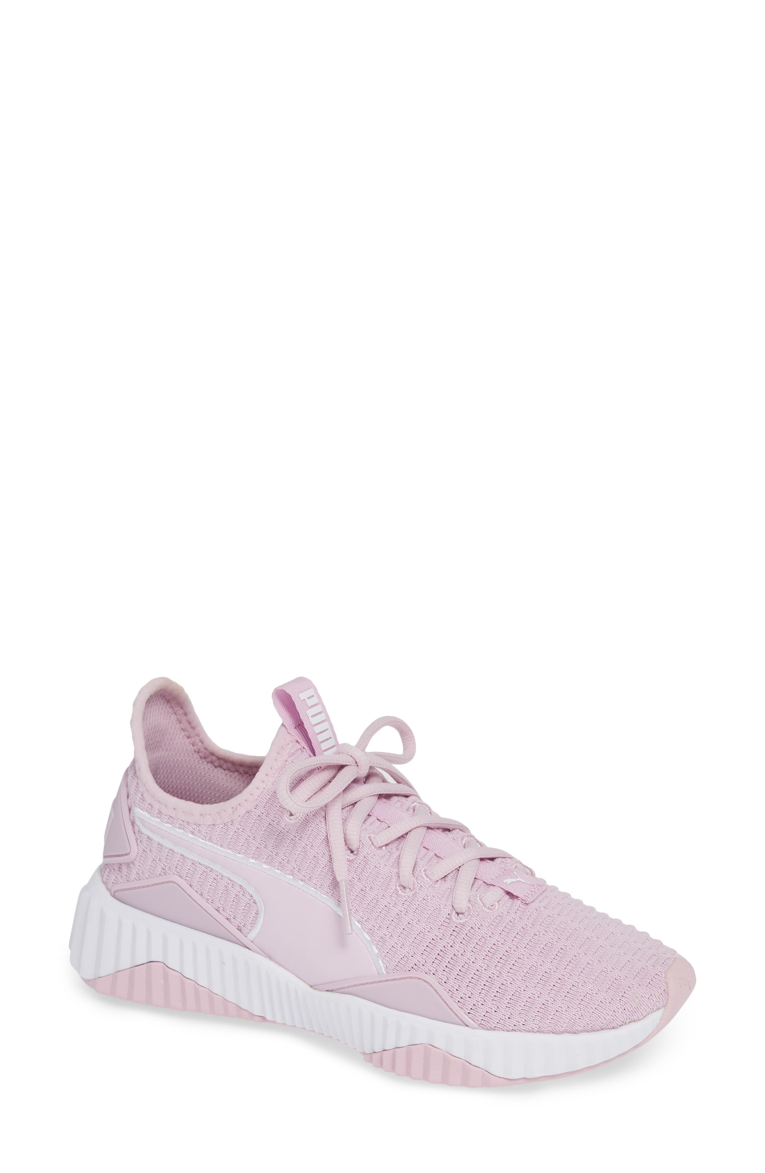 Defy Sneaker,                             Main thumbnail 1, color,                             WINSOME ORCHID/ PUMA WHITE