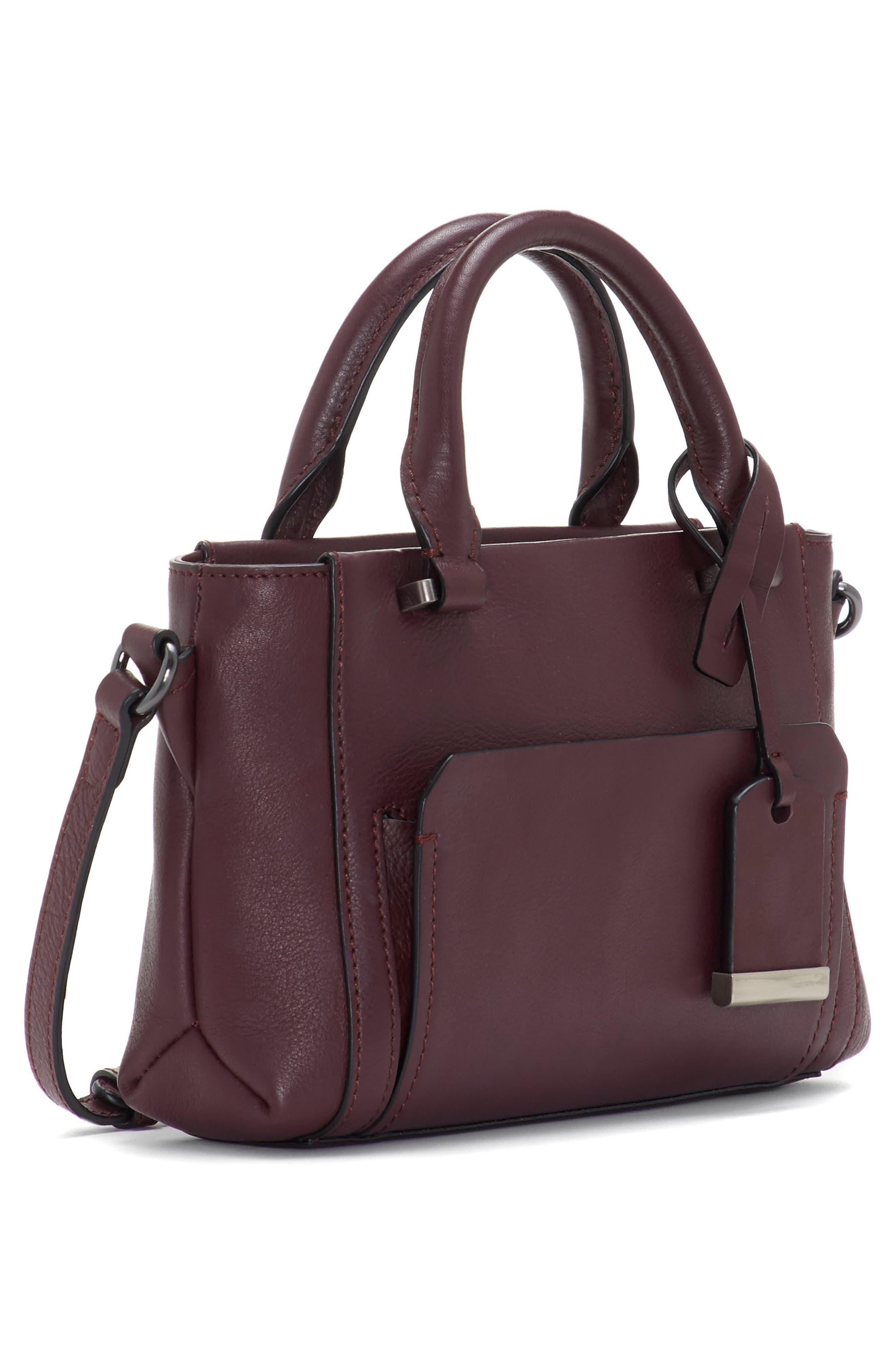 Small Lina Leather Crossbody Bag,                             Alternate thumbnail 4, color,                             VAMP