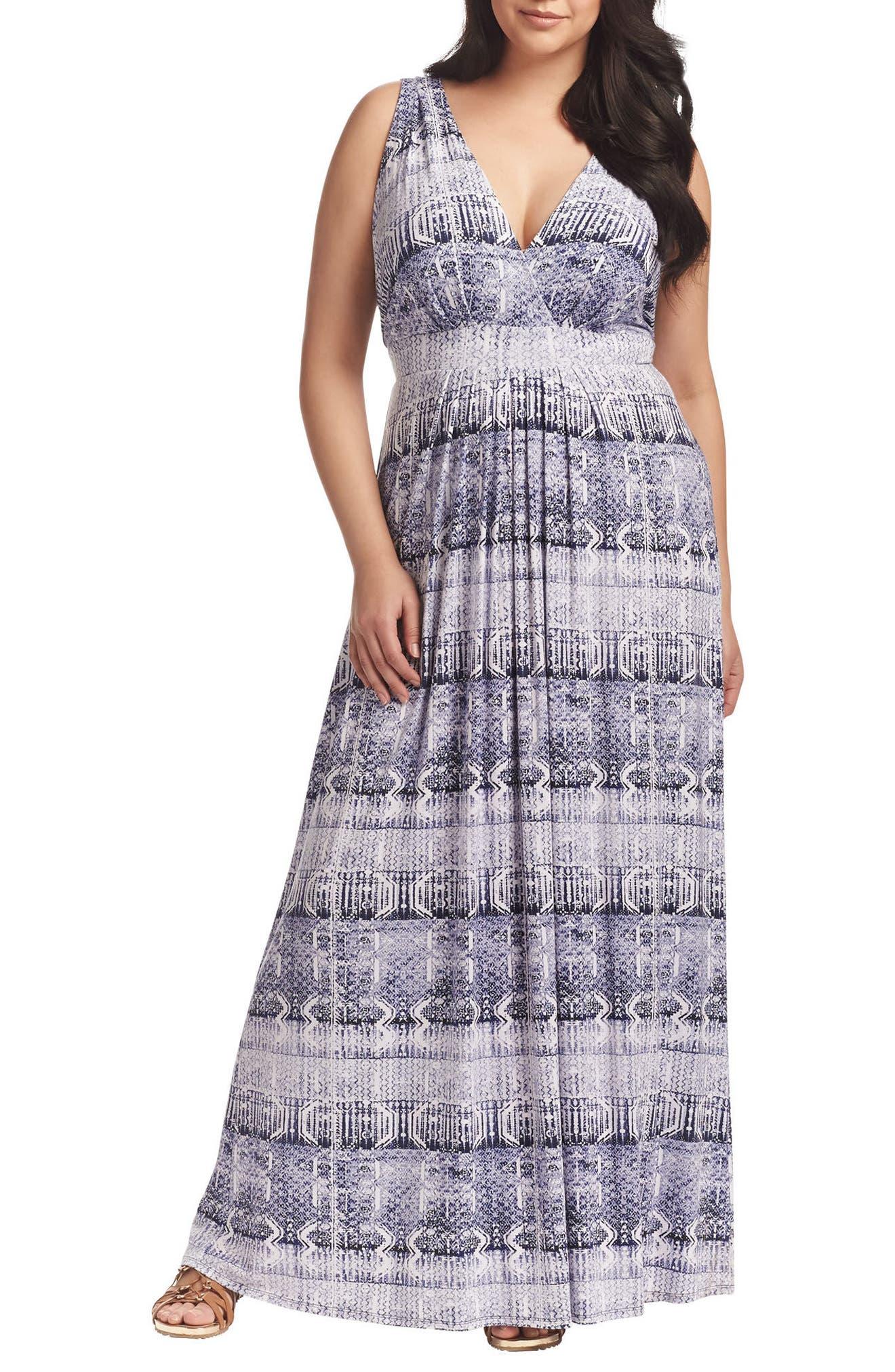 Chloe Empire Waist Maxi Dress,                             Main thumbnail 17, color,