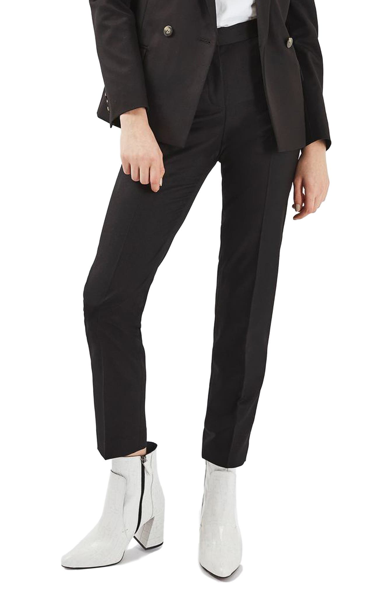 Premium Tapered Suit Trousers,                         Main,                         color, 001