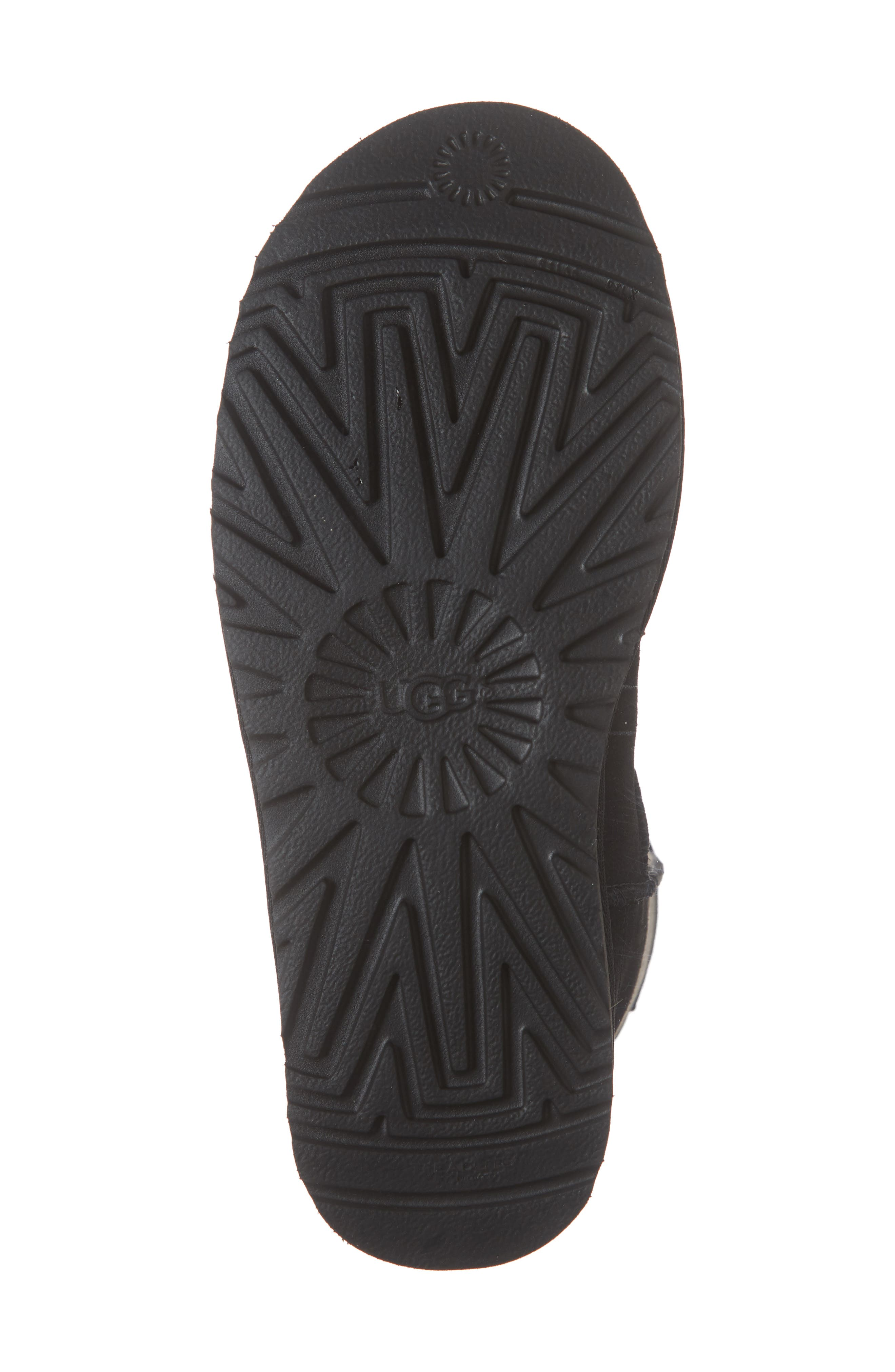 Classic Short Rubber Boot,                             Alternate thumbnail 6, color,                             BLACK