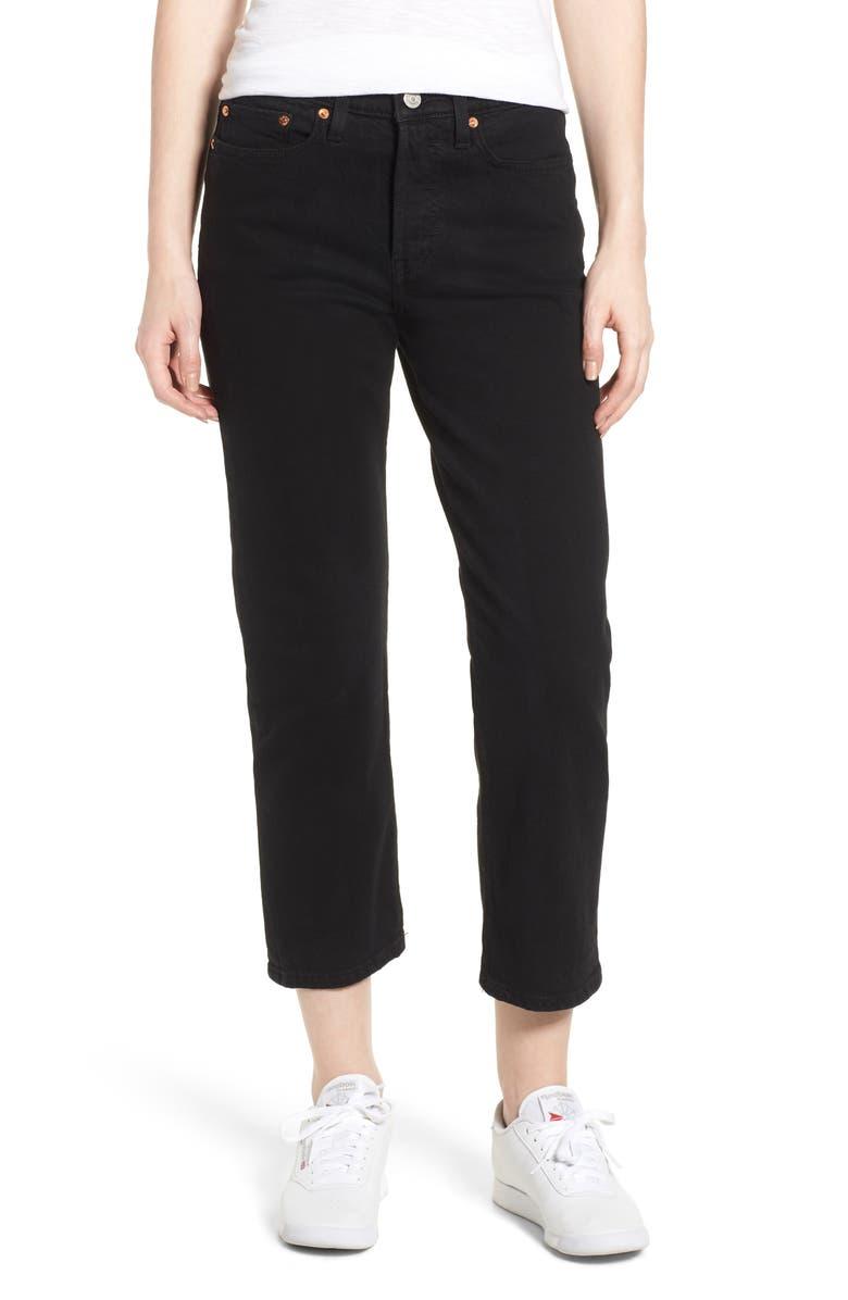 dd5ab1e0cbe Levi s® Wedgie High Waist Straight Jeans (Black Heart)