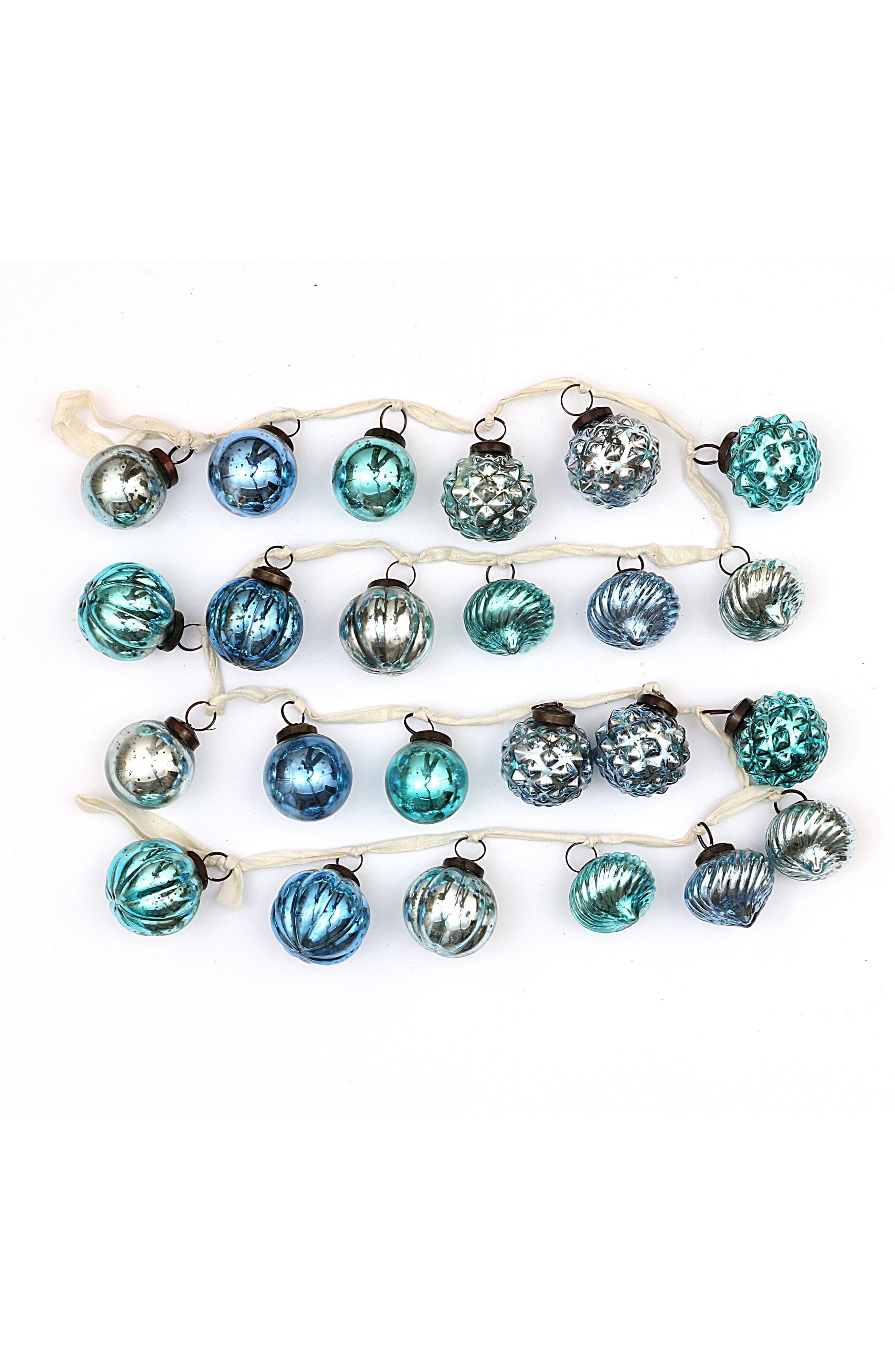 CREATIVE CO-OP,                             Mercury Glass Ball Garland,                             Main thumbnail 1, color,                             400