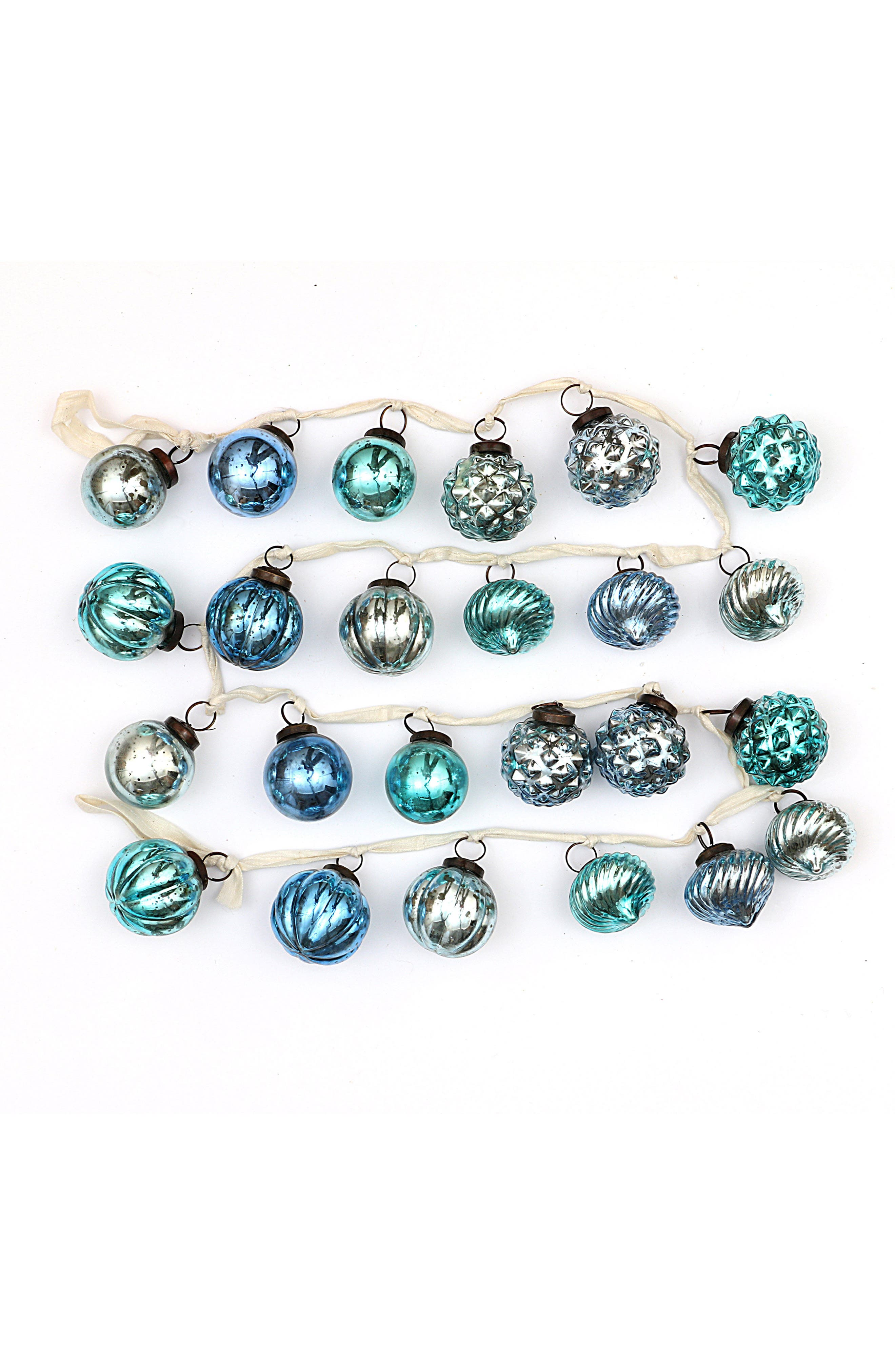 CREATIVE CO-OP Mercury Glass Ball Garland, Main, color, 400