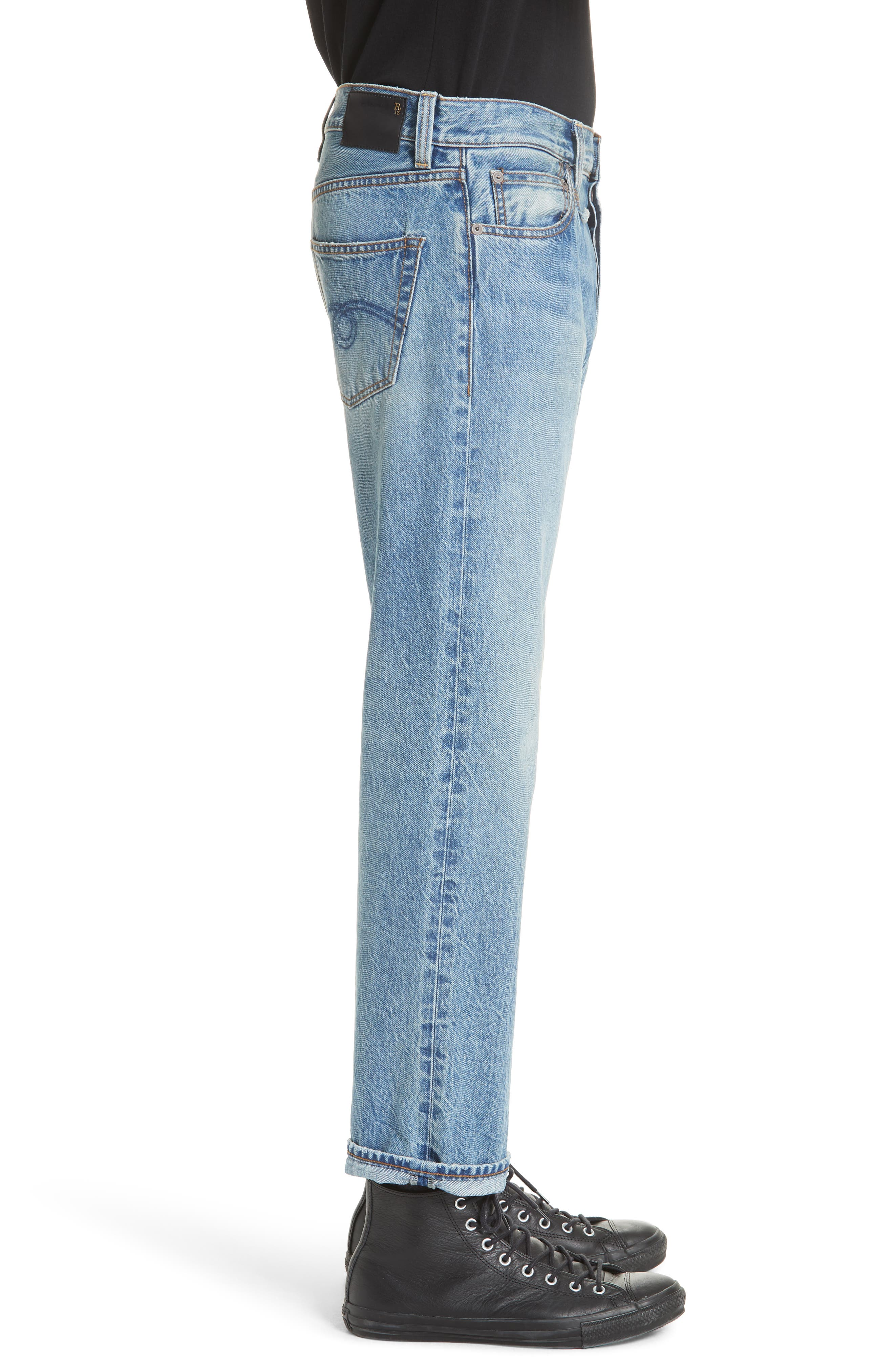 Hayden Relaxed Fit Jeans,                             Alternate thumbnail 3, color,                             BLUE