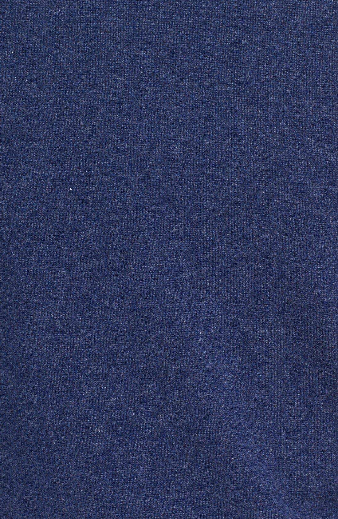 Cashmere V-Neck Sweater Vest,                             Alternate thumbnail 10, color,                             BLUE ESTATE HEATHER