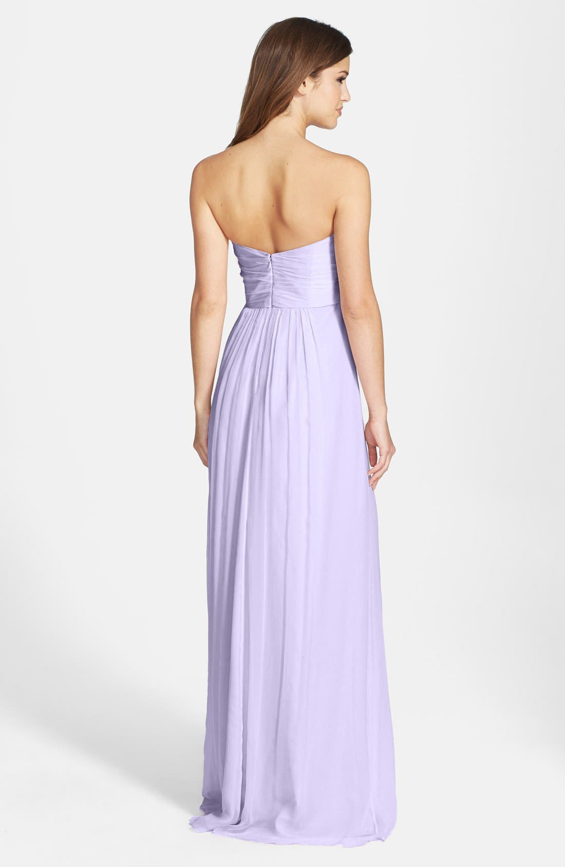 Strapless Crinkle Chiffon Gown,                             Alternate thumbnail 30, color,