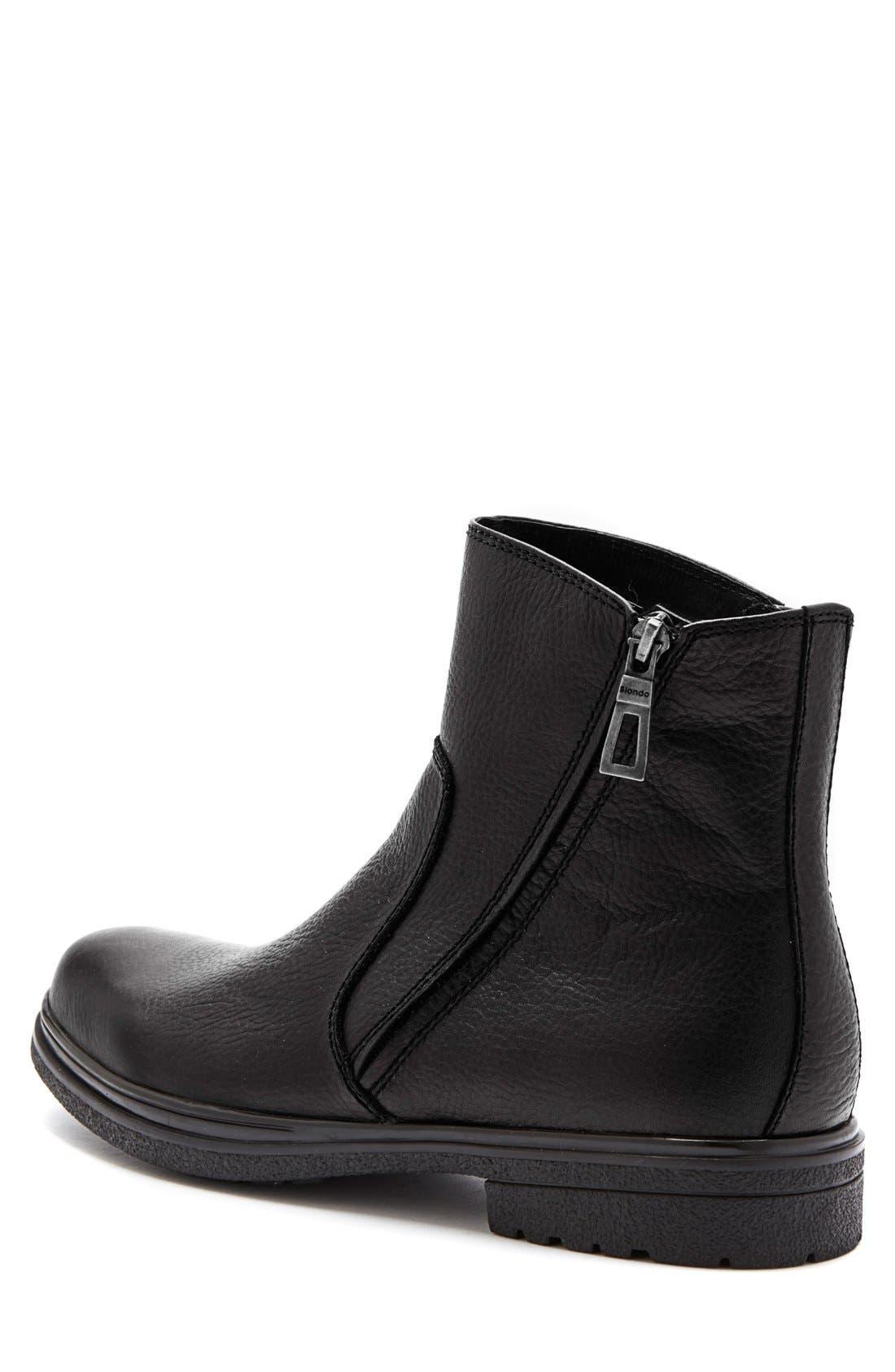 'Brawn' Waterproof Zip Boot,                             Alternate thumbnail 2, color,                             001