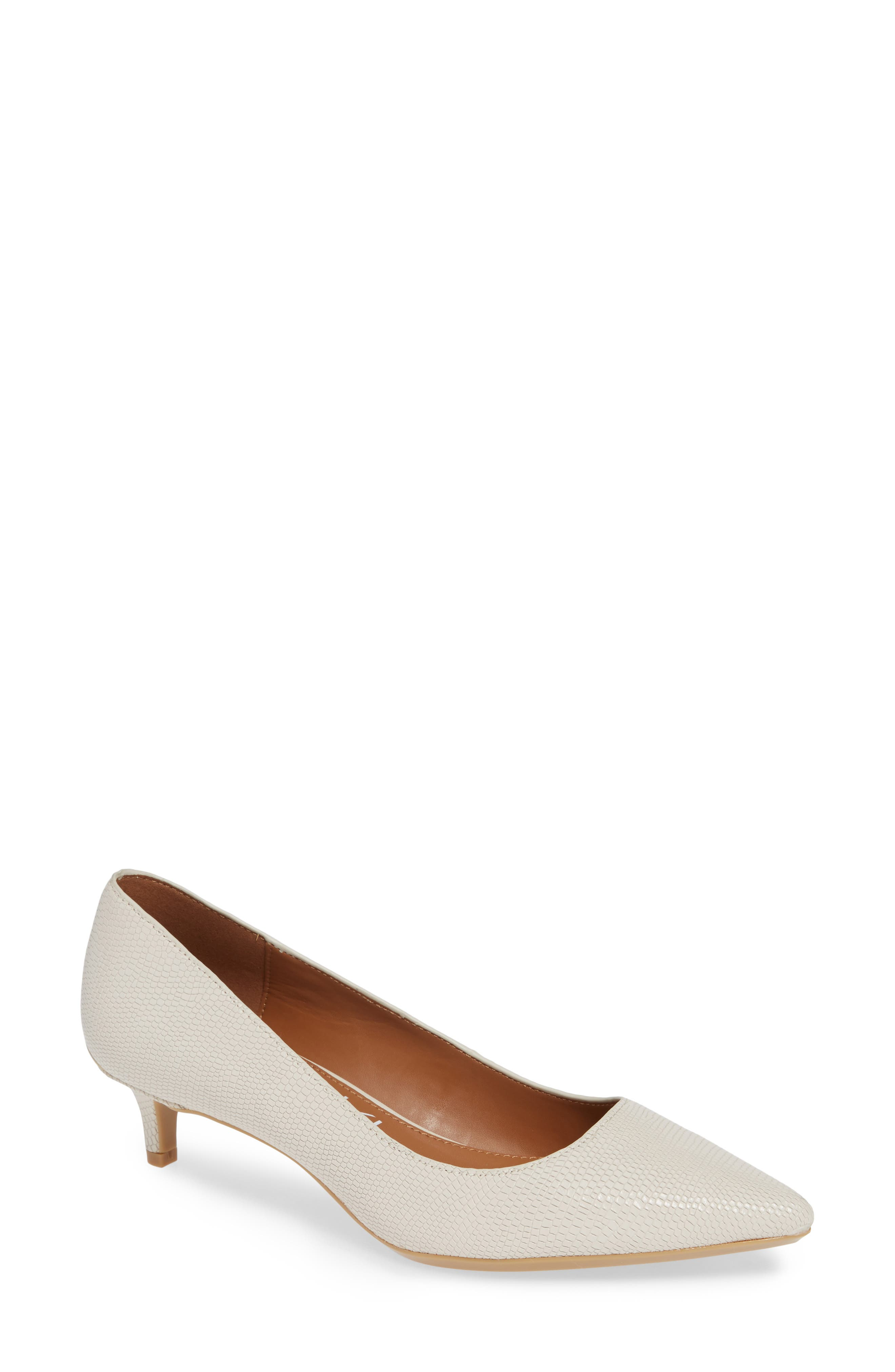 Gabrianna Pump,                             Main thumbnail 1, color,                             SOFT WHITE LEATHER
