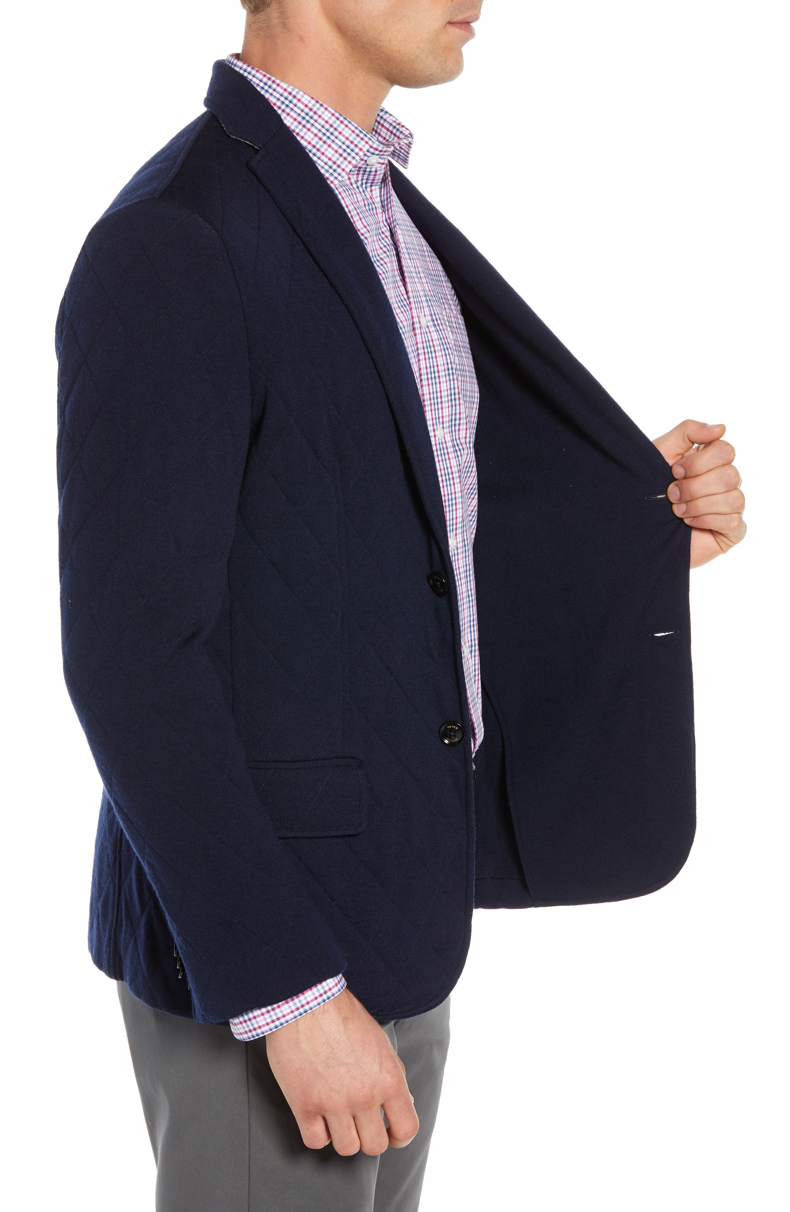 Nordic Knit Regular Fit Blazer,                             Alternate thumbnail 3, color,                             440