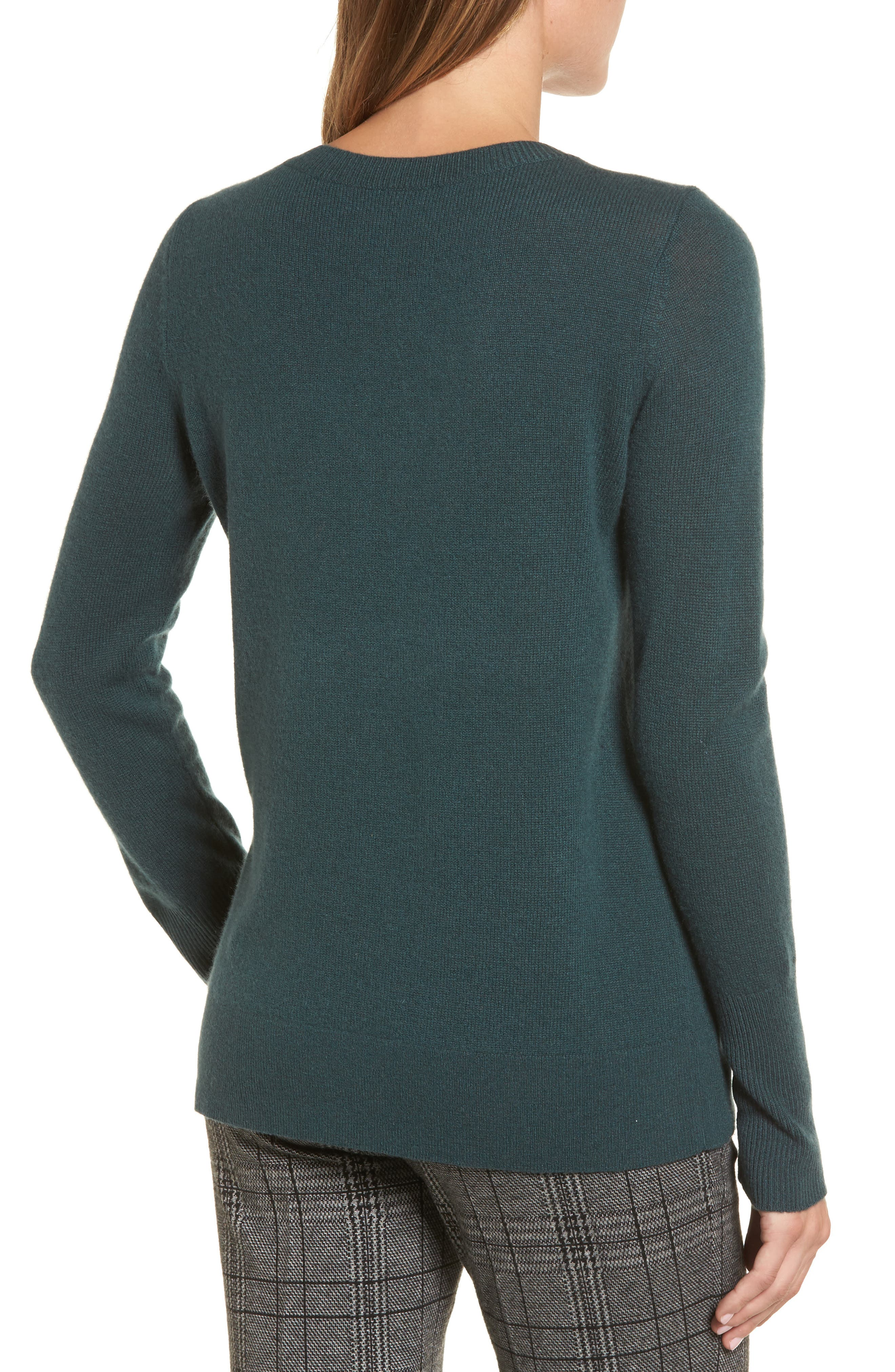 V-Neck Cashmere Sweater,                             Alternate thumbnail 23, color,