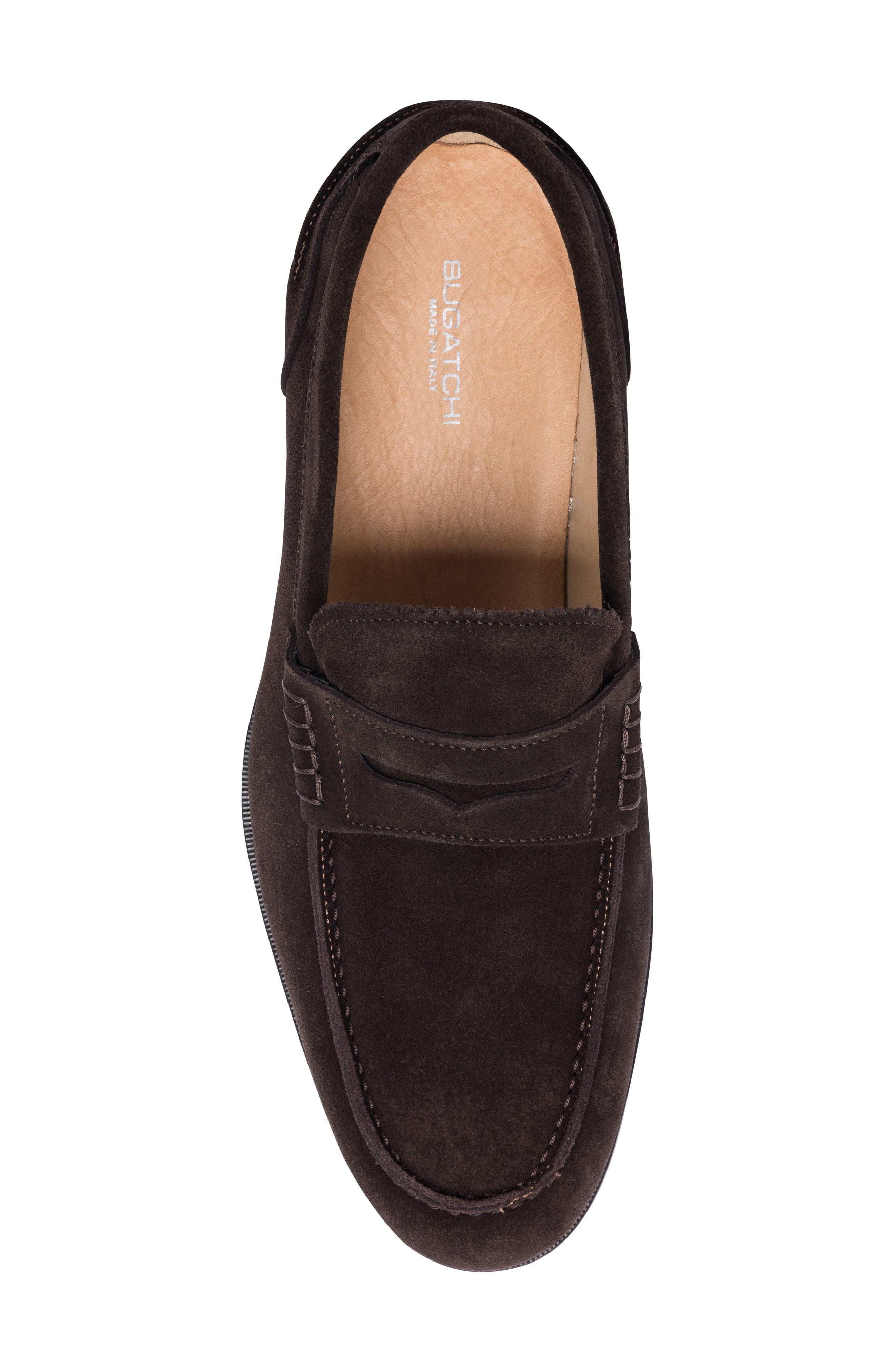 Torino Penny Loafer,                             Alternate thumbnail 5, color,                             BROWN SUEDE