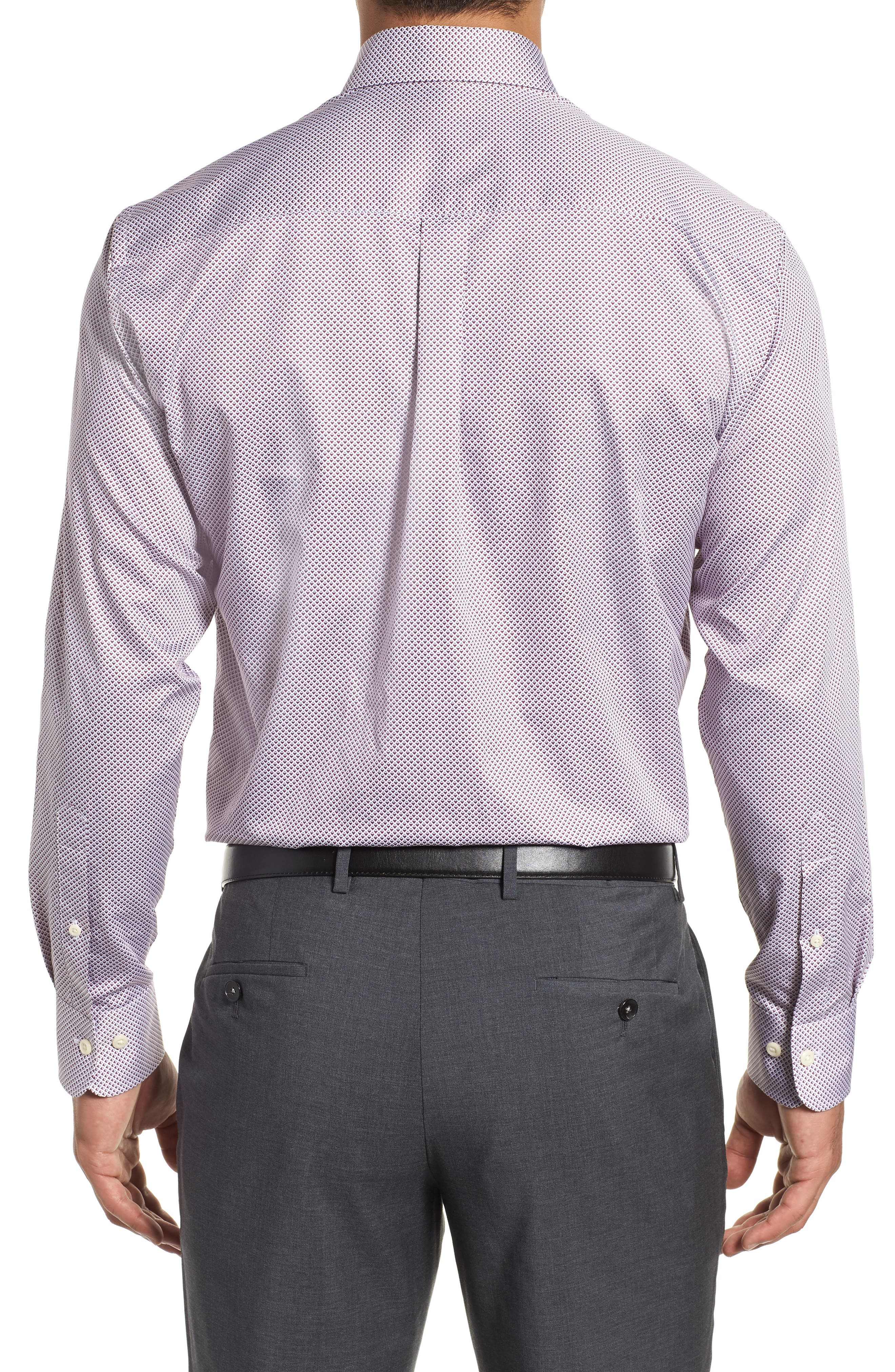 Diamond in the Rough Regular Fit Sport Shirt,                             Alternate thumbnail 3, color,                             WINTERBERRY