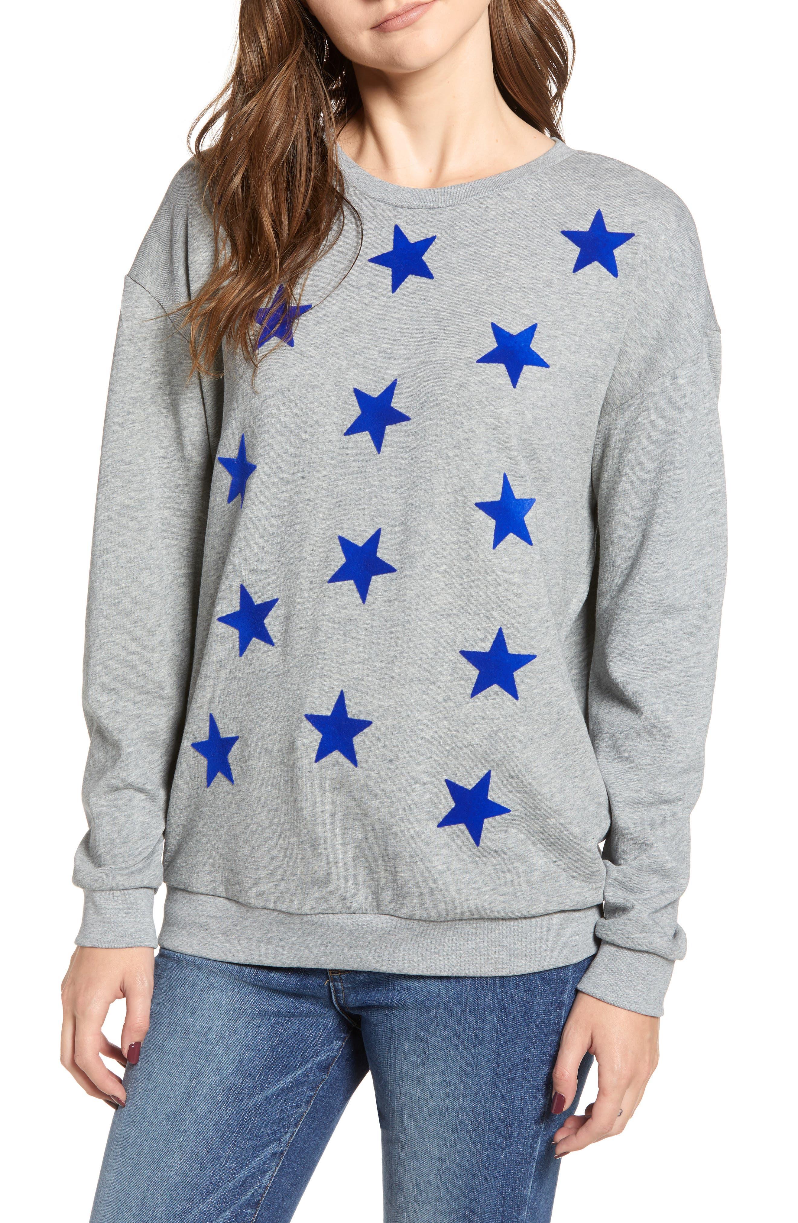Alexa Stars Sweatshirt,                             Main thumbnail 1, color,                             GREY