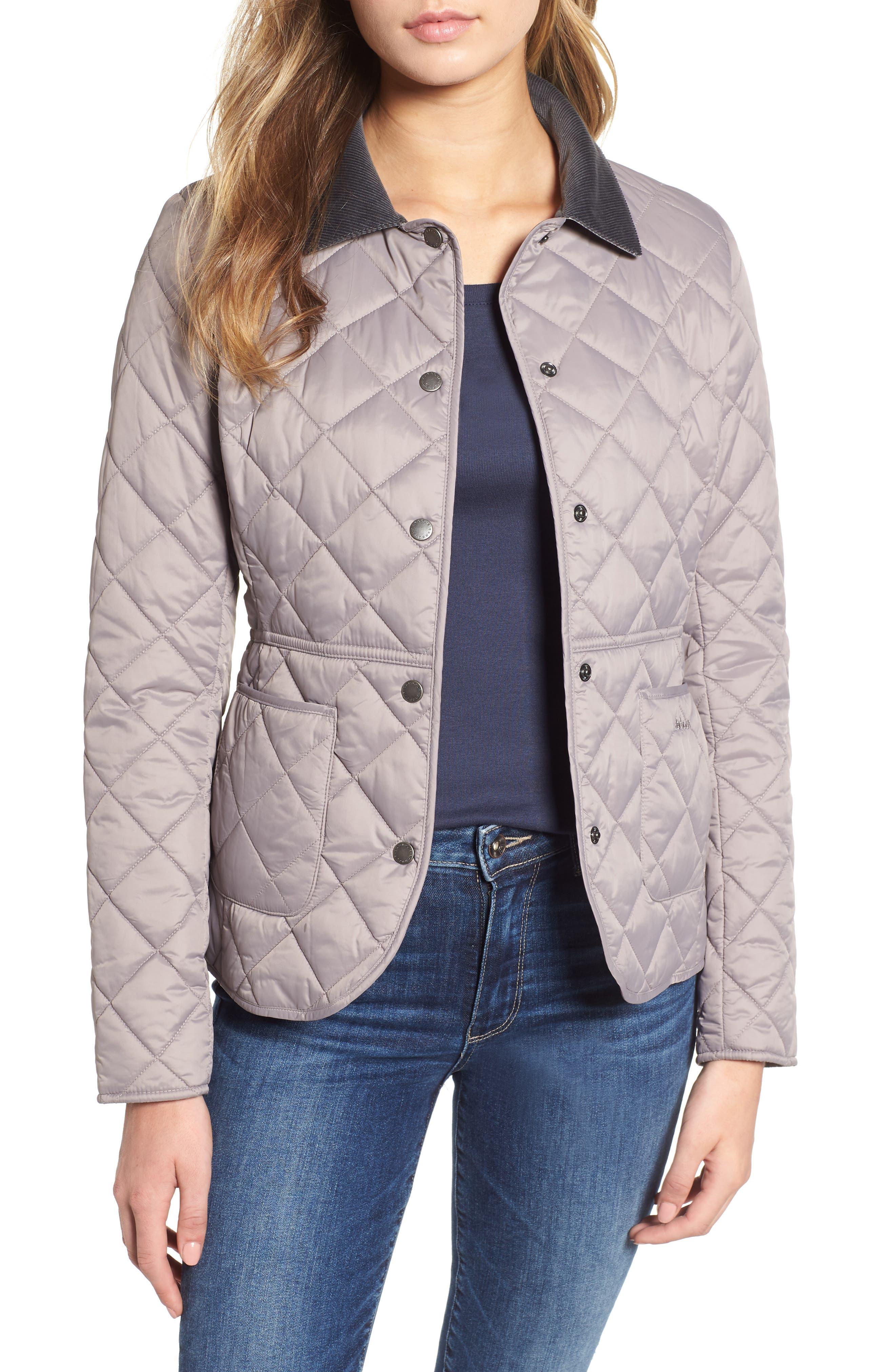 Barbour Deveron Quilted Jacket, US / 10 UK - Grey