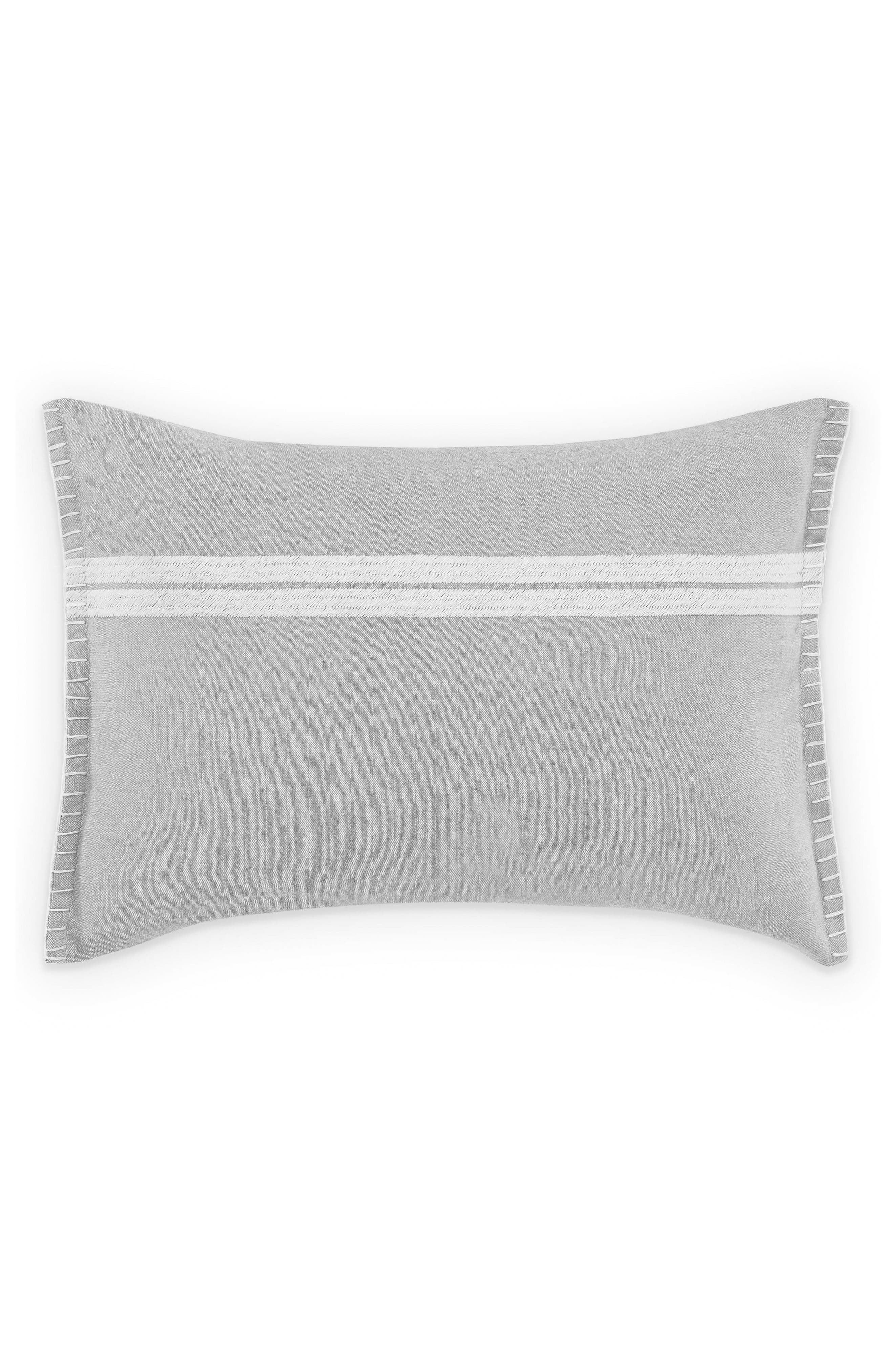 ED ELLEN DEGENERES,                             Claremont Stripe Accent Pillow,                             Main thumbnail 1, color,                             PASTEL GREY